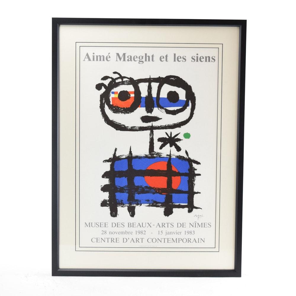 """Exhibition Poster After Joan Miró """"Aimé Maeght et les Siens"""""""
