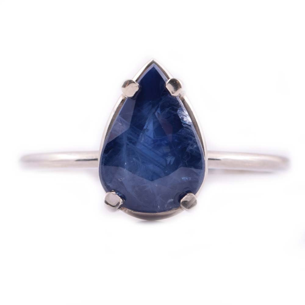 18K Yellow Gold and 4.11 CT Sapphire Ring