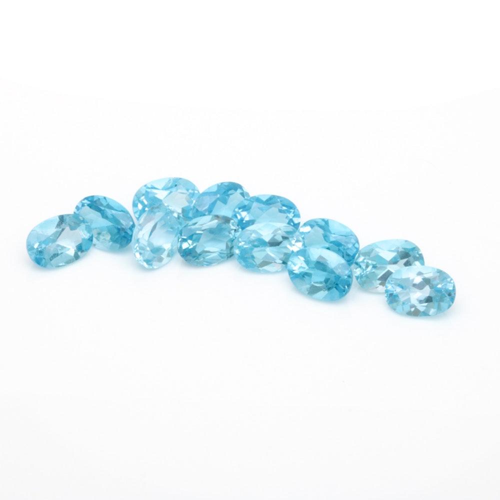 Assortment of Loose 12.12 CTW Blue Topaz Gemstones