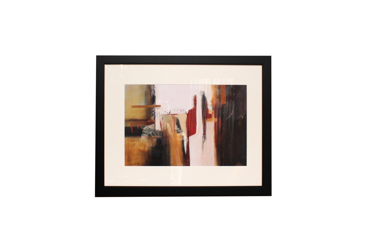 Contemporary Offset Lithograph After Abstract Painting