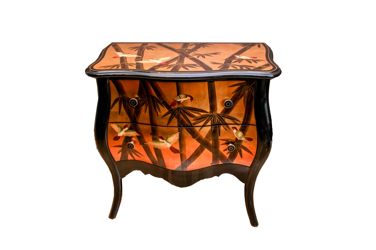 Contemporary Painted Bombe Chest