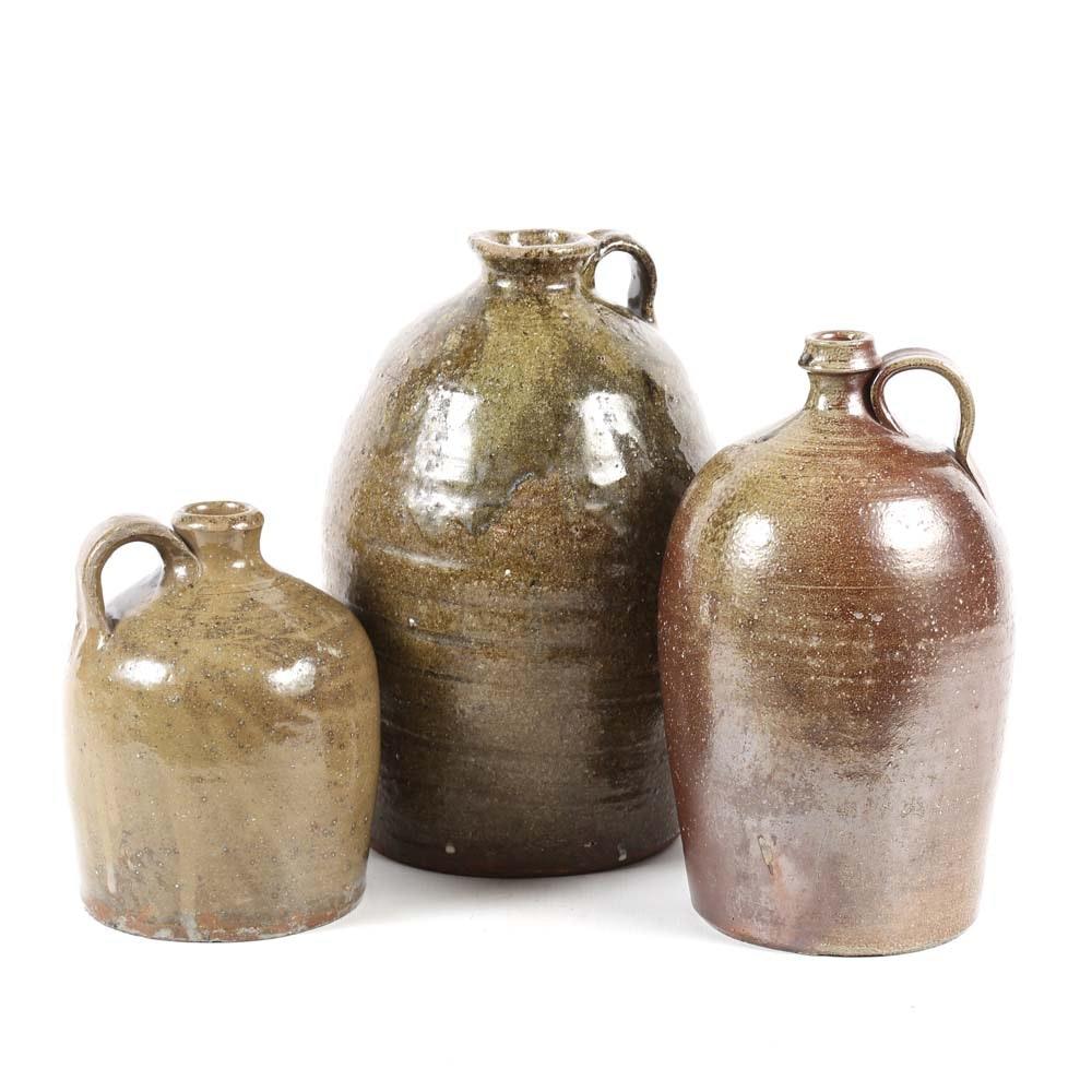 Glazed Stoneware Jugs