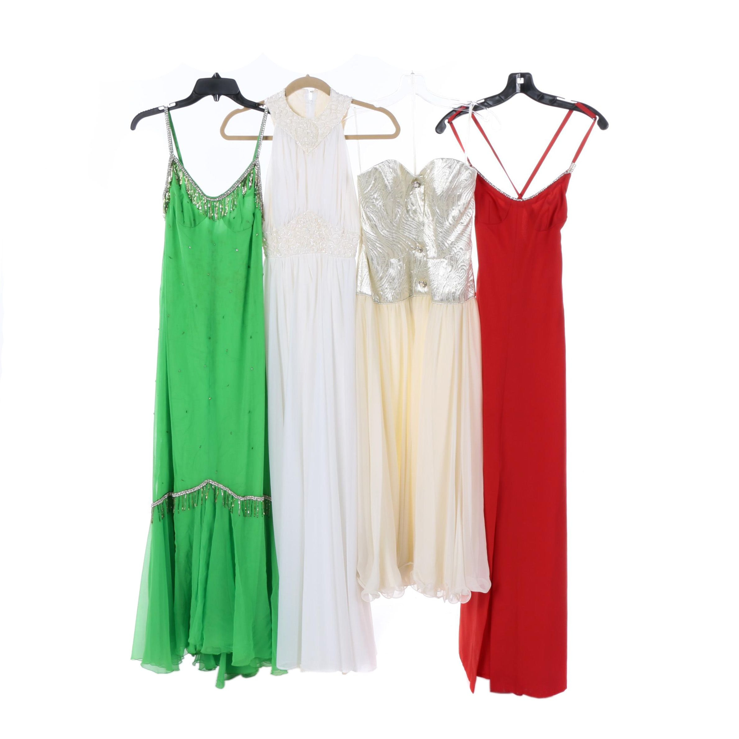 Vintage and Contemporary Embellished Evening Gowns