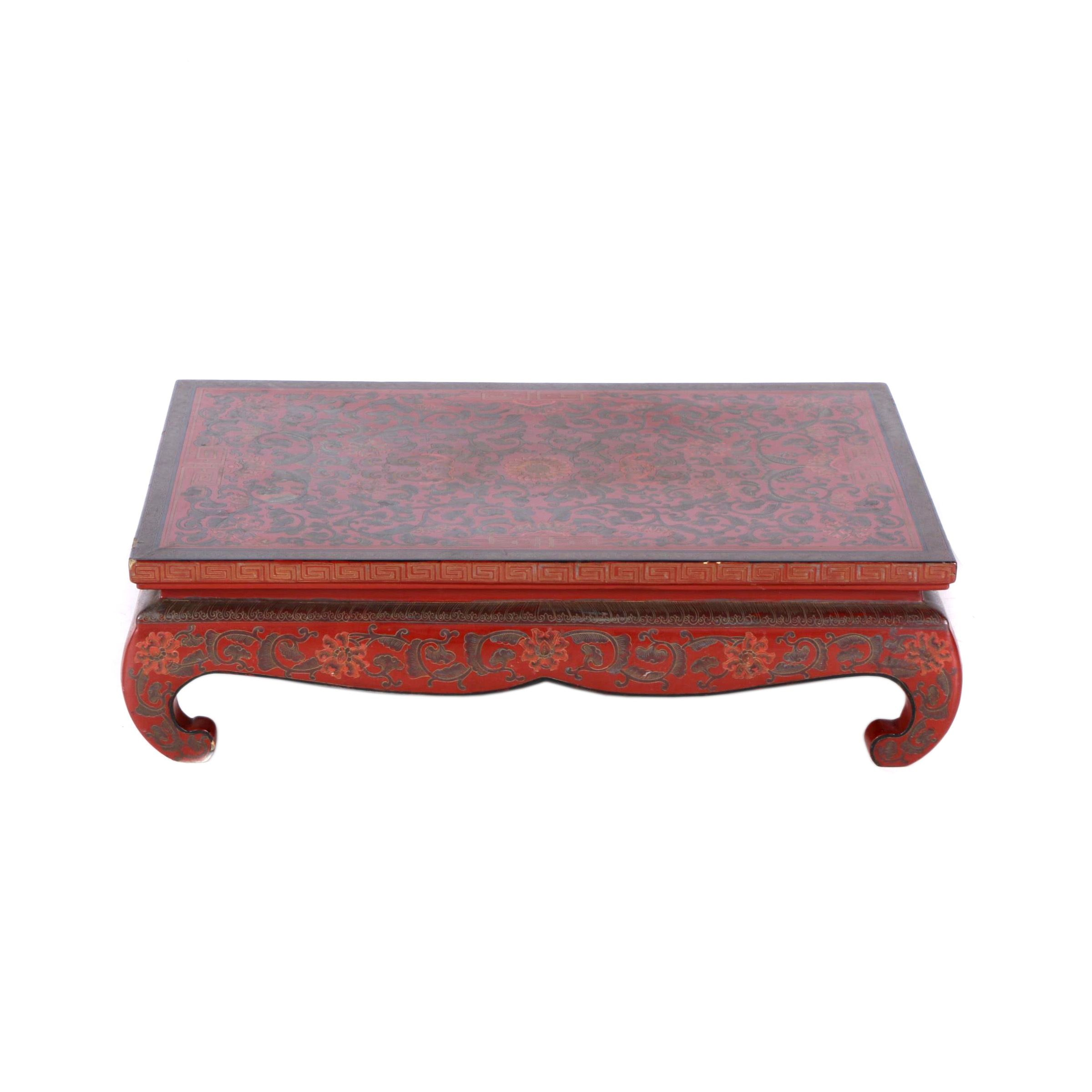 Antique Chinese Wooden Tea Tray