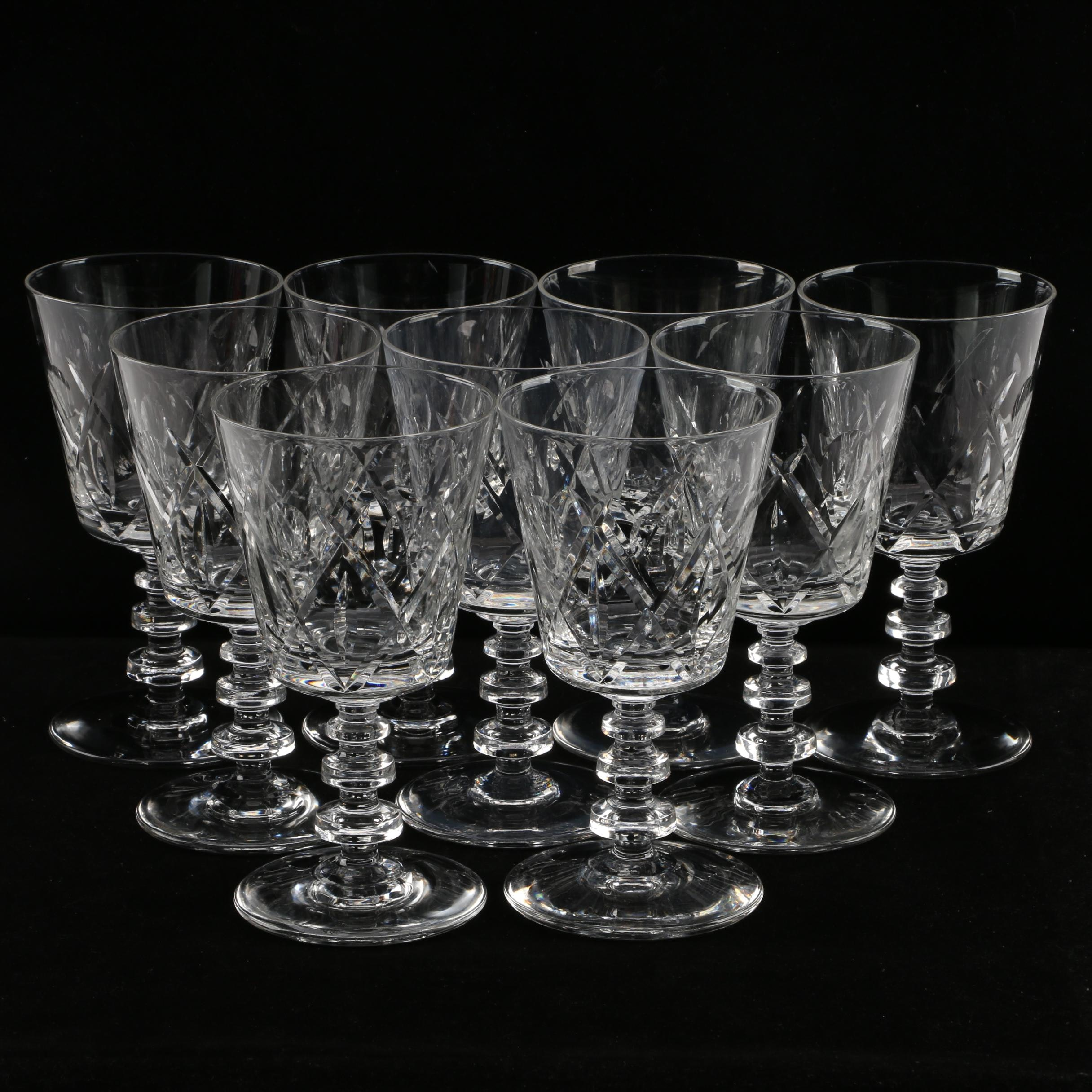 Collection of Vintage Hand-Cut Crystal Stemware