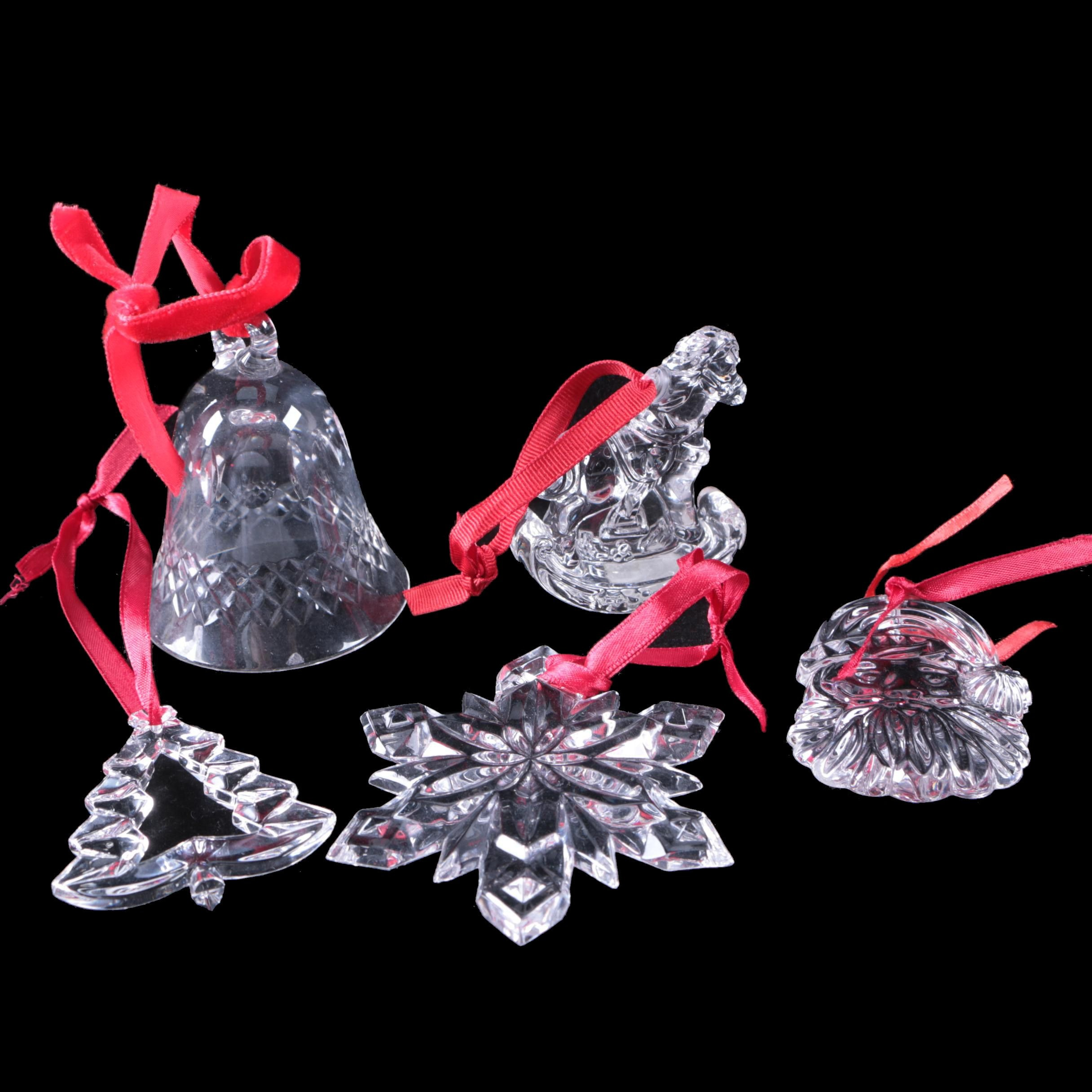 Crystal Ornaments Featuring Marquis by Waterford Crystal and Godinger