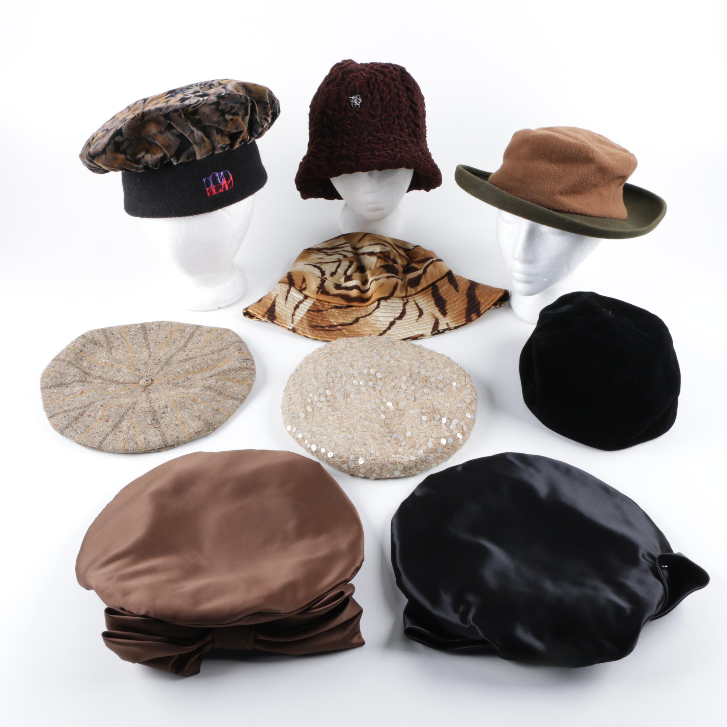 Women's Winter and Fashion Hats Including Phillip Treacy of London and Kokin