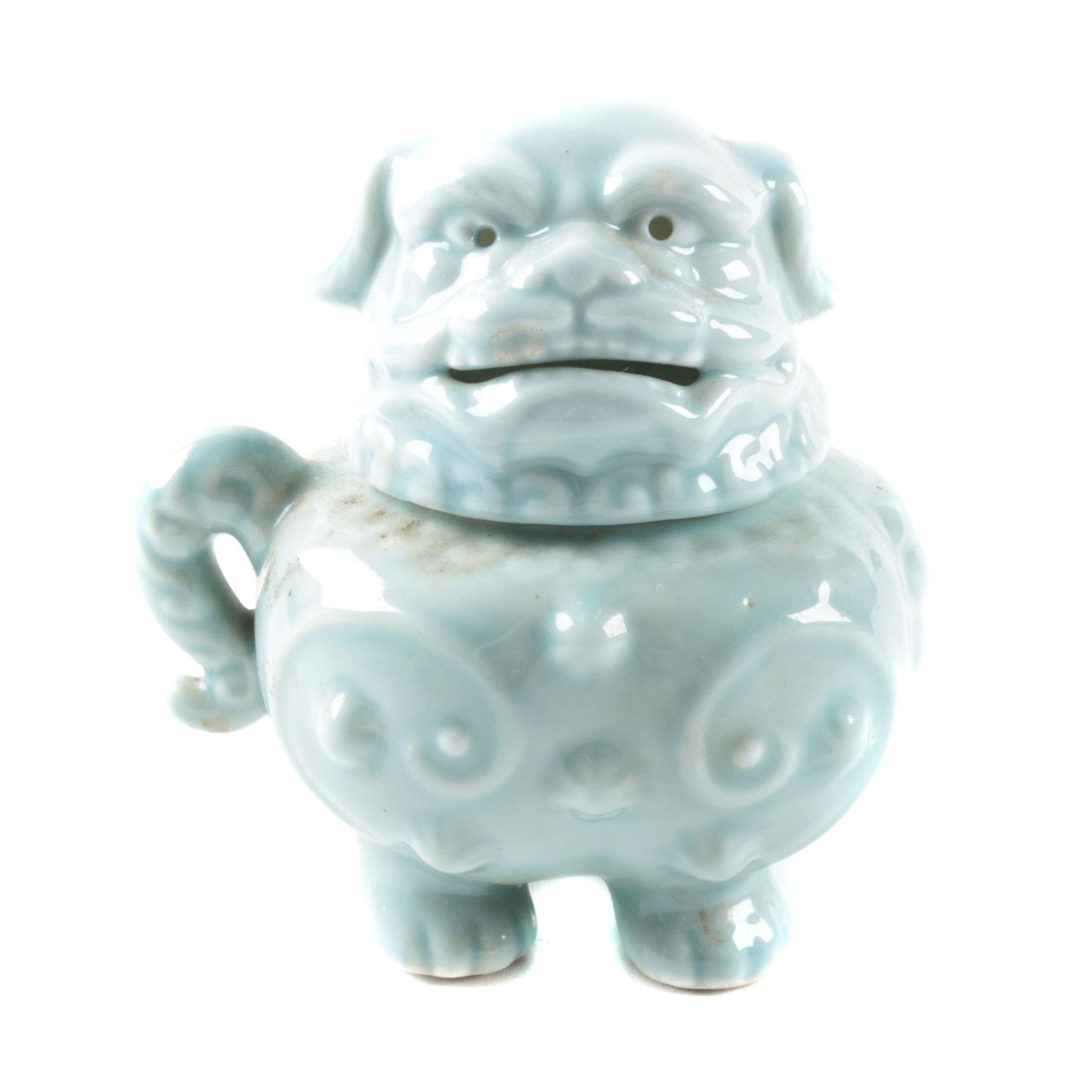 Ceramic Guardian Lion Lidded Jug