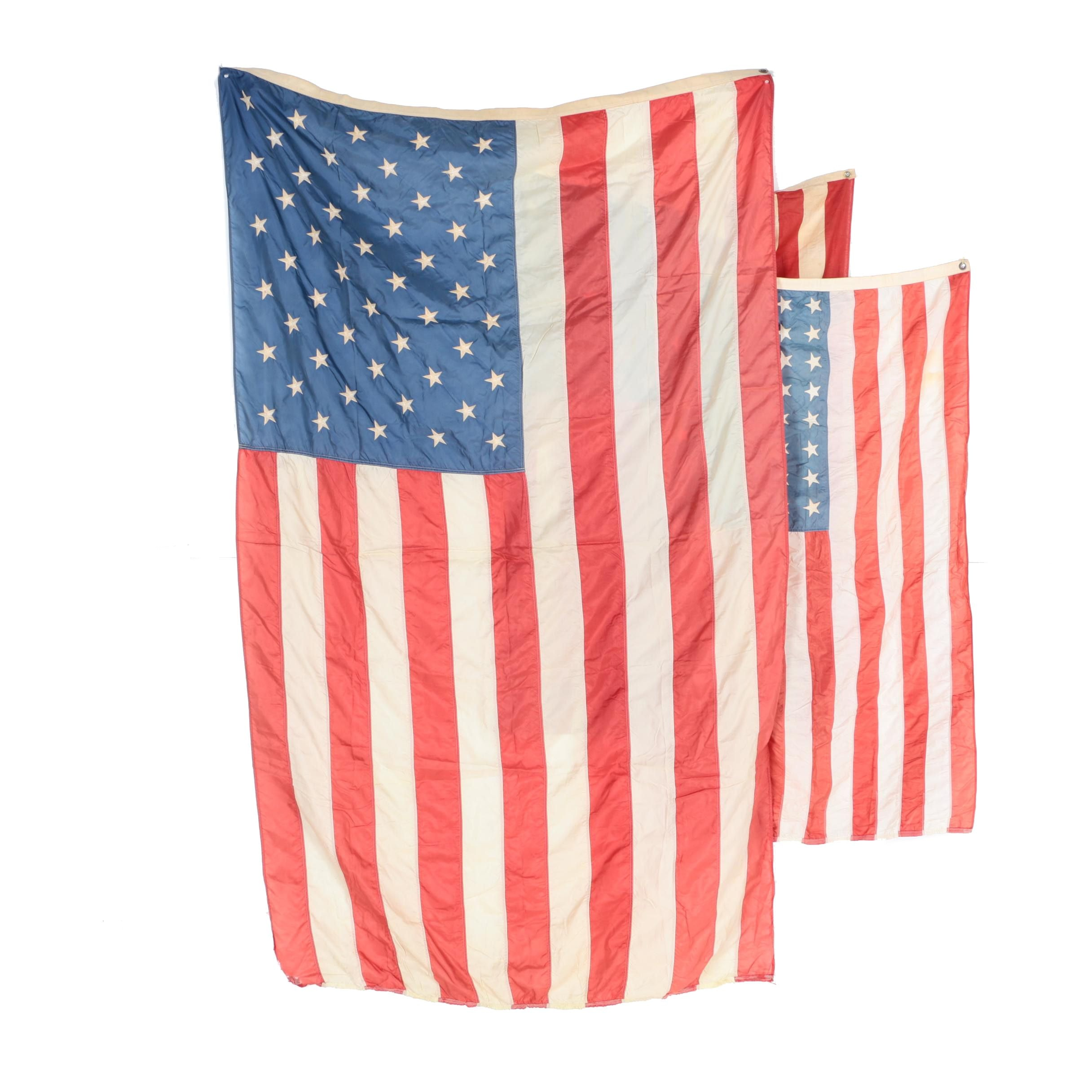 Various Sized 48 Star American Flags
