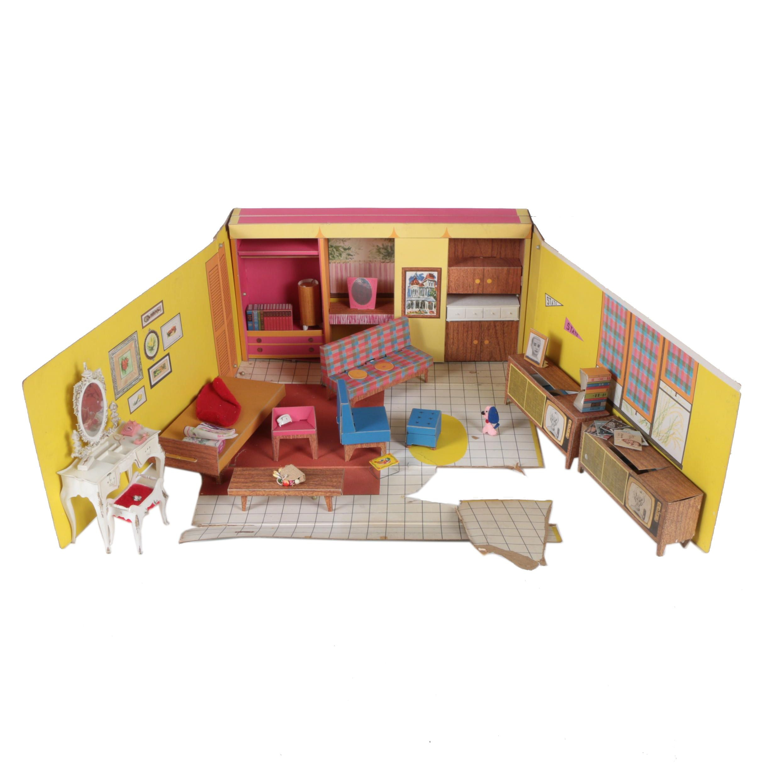 """1962 Mattel """"Barbie's Dream House"""" with Furnishings"""