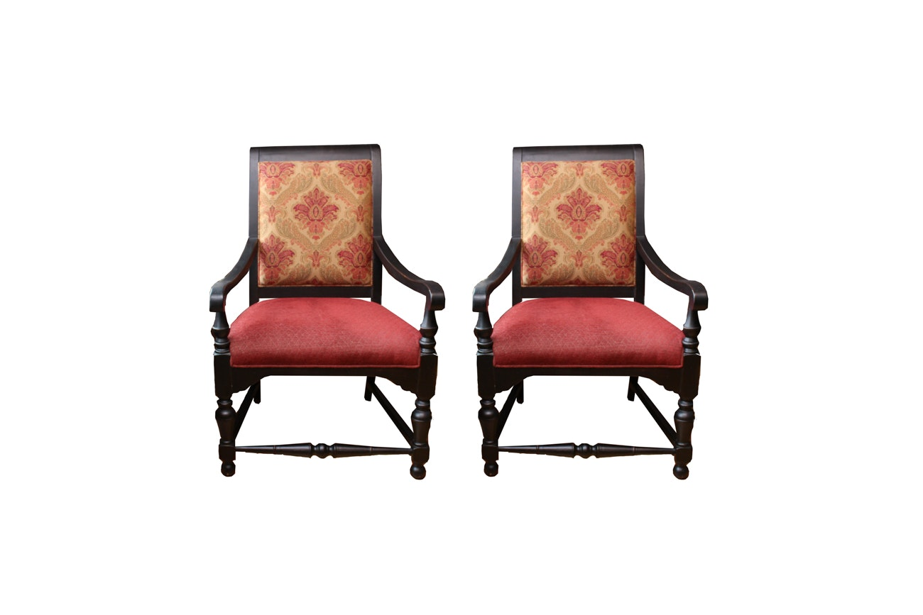 Regency Style Upholstered Armchairs