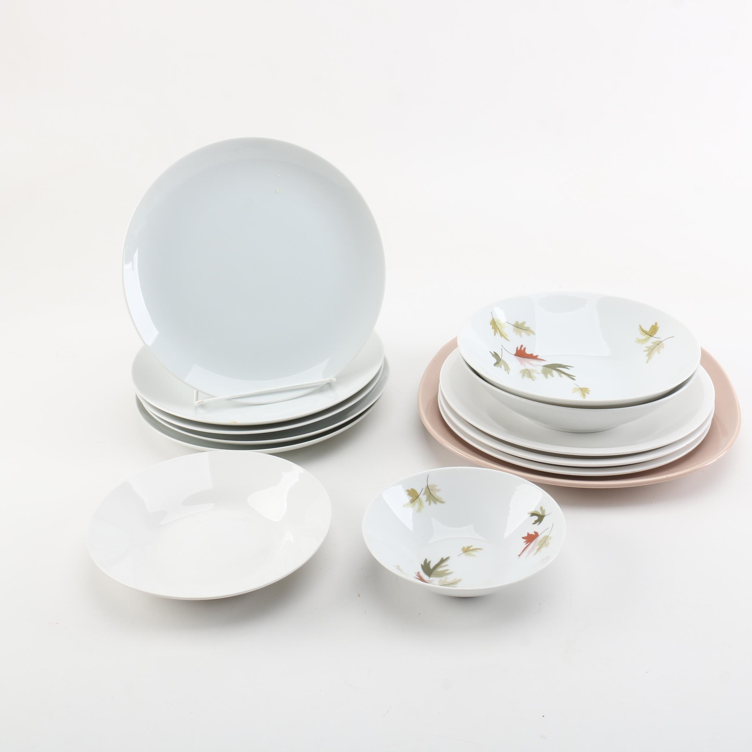 Porcelain and Ceramic Tableware Featuring Mikasa