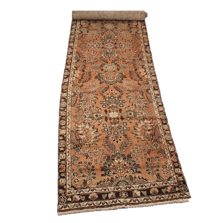 Vintage Hand-Knotted Persian Mahal Sarouk Runner
