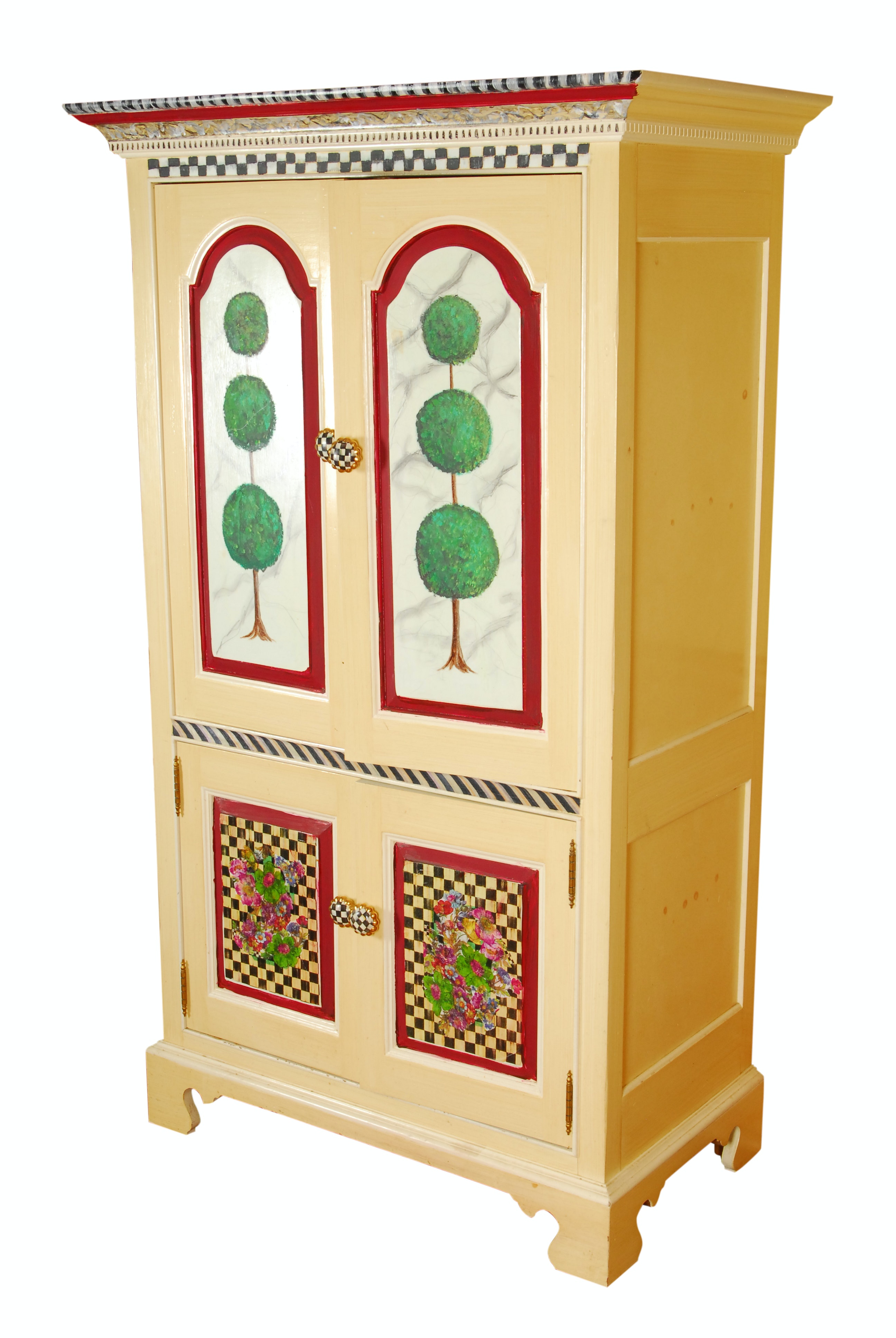 Hand-Painted Thomasville Cabinet