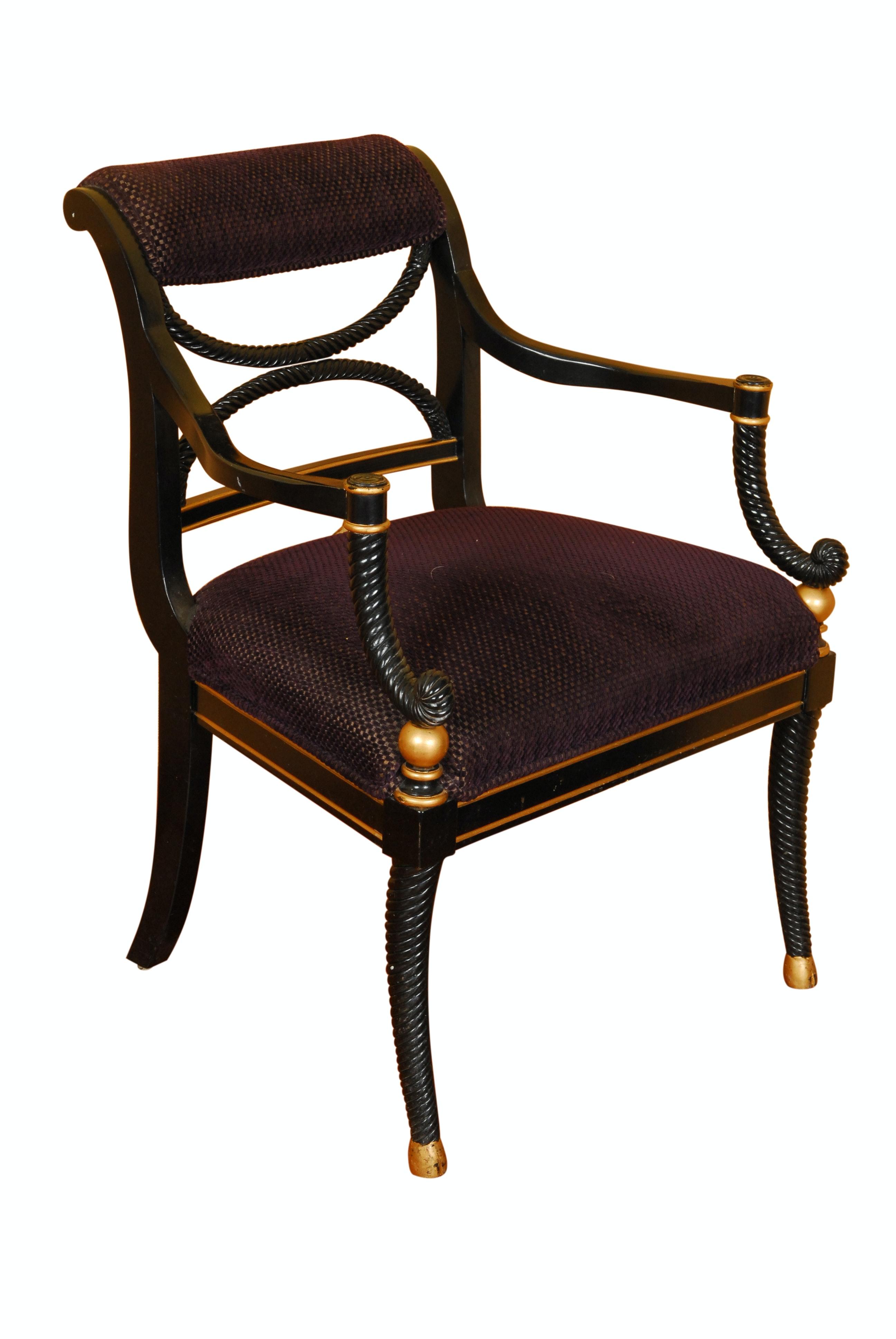 Vintage Regency Style Armchair