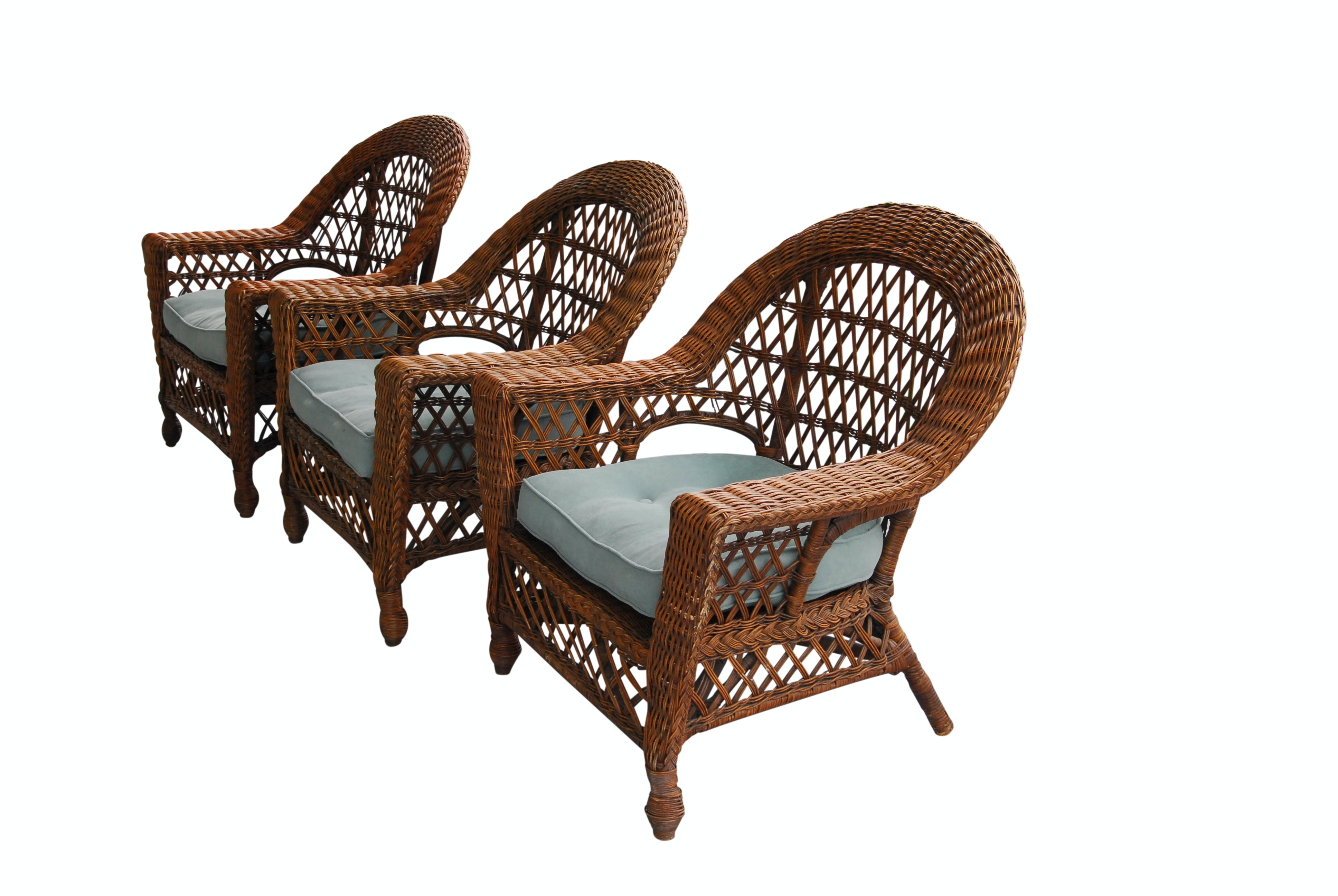 Three Wicker Armchairs