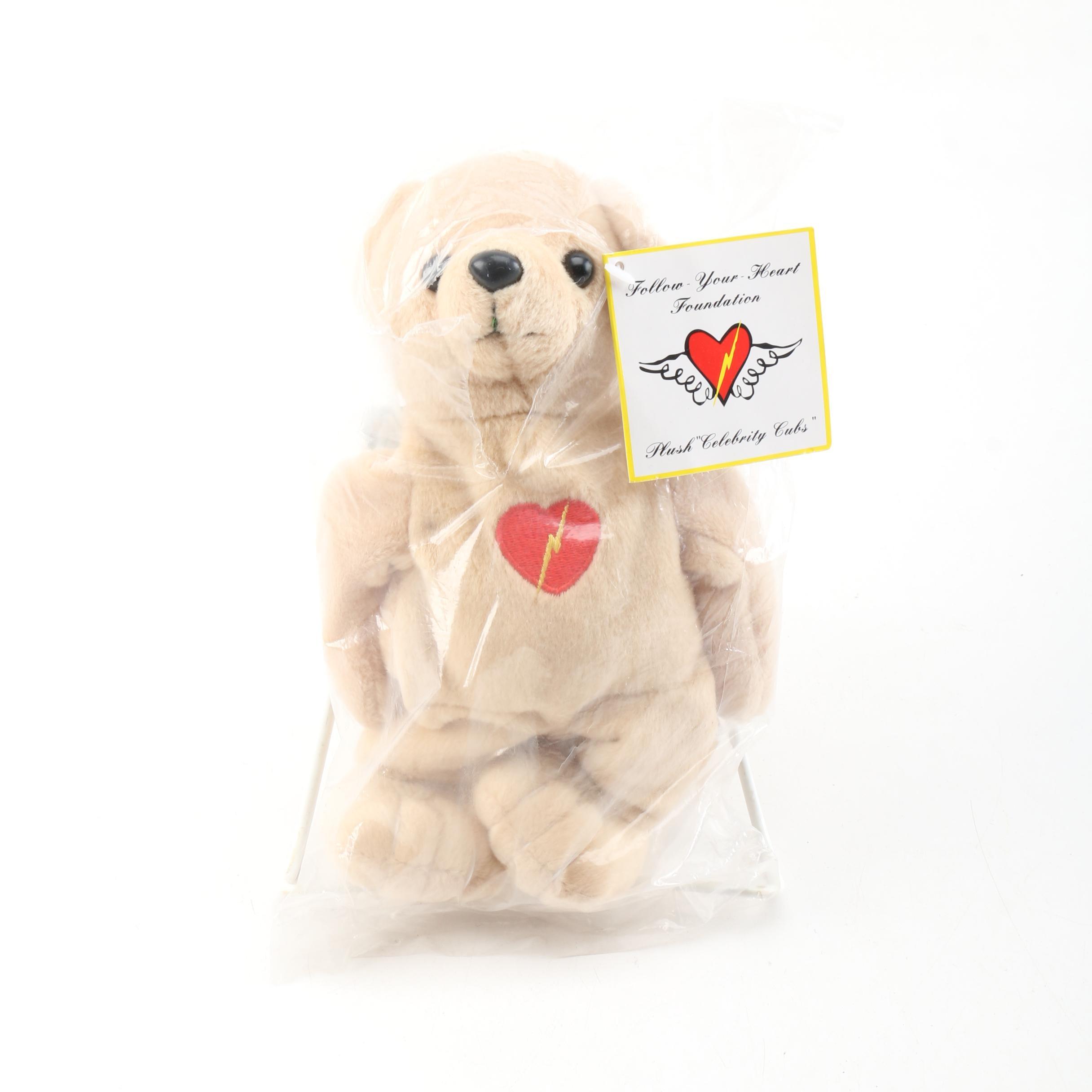 """2000 Follow Your Heart Foundation """"Harrison Ford"""" Teddy Bear"""