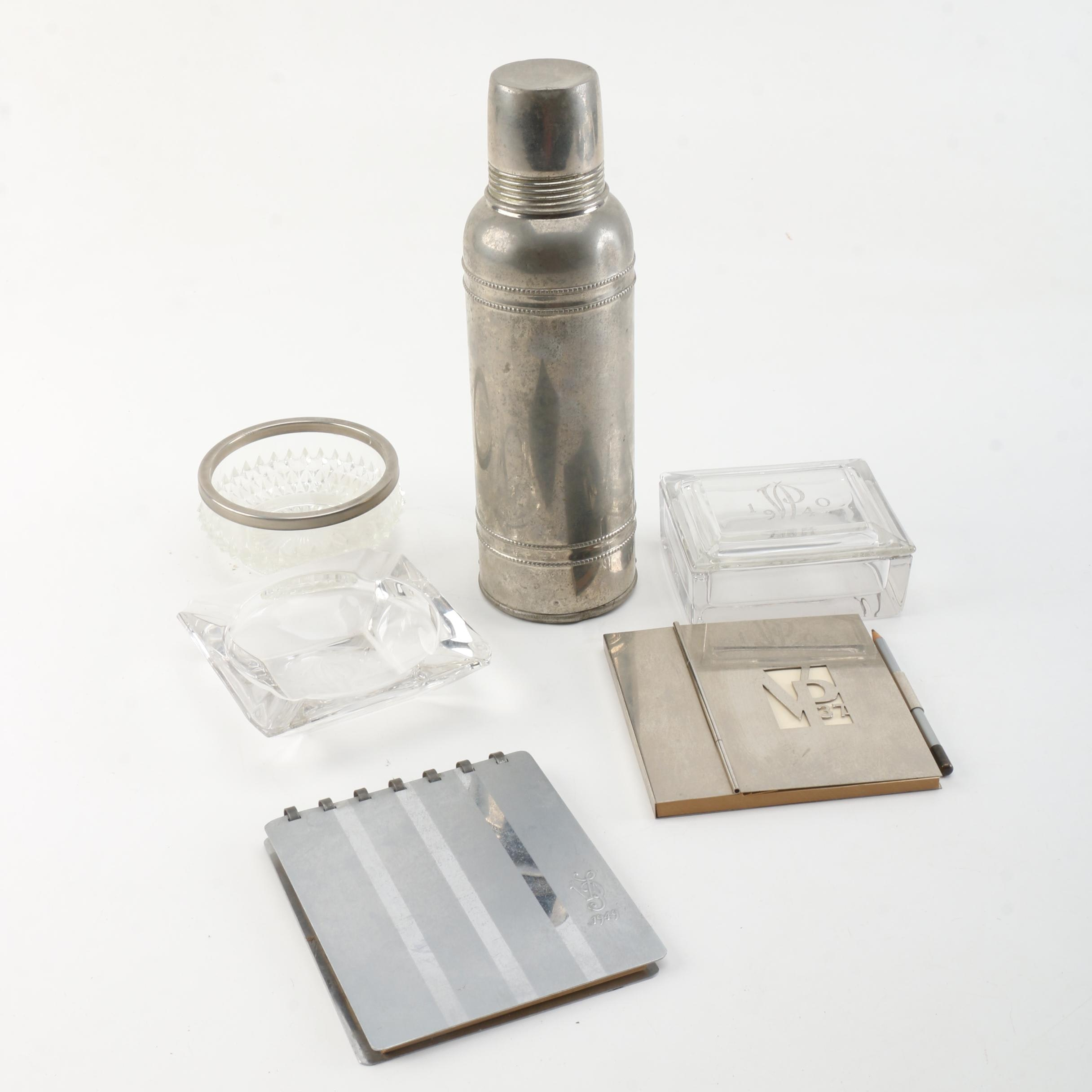 Vintage Veiled Prophet Icy Hot Vacuum Flask and Other Decorative Items