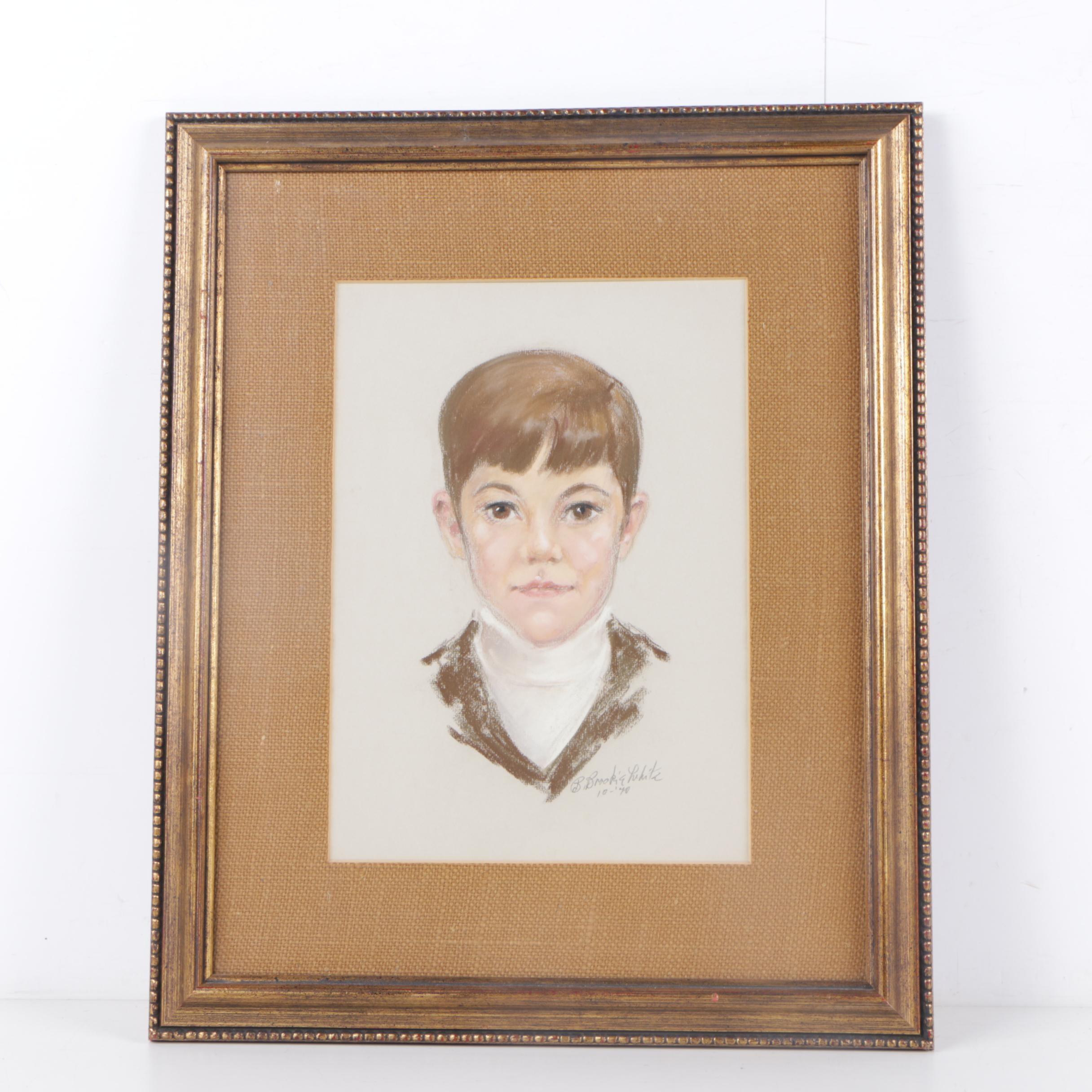 B. Brookie White Pastel Portrait