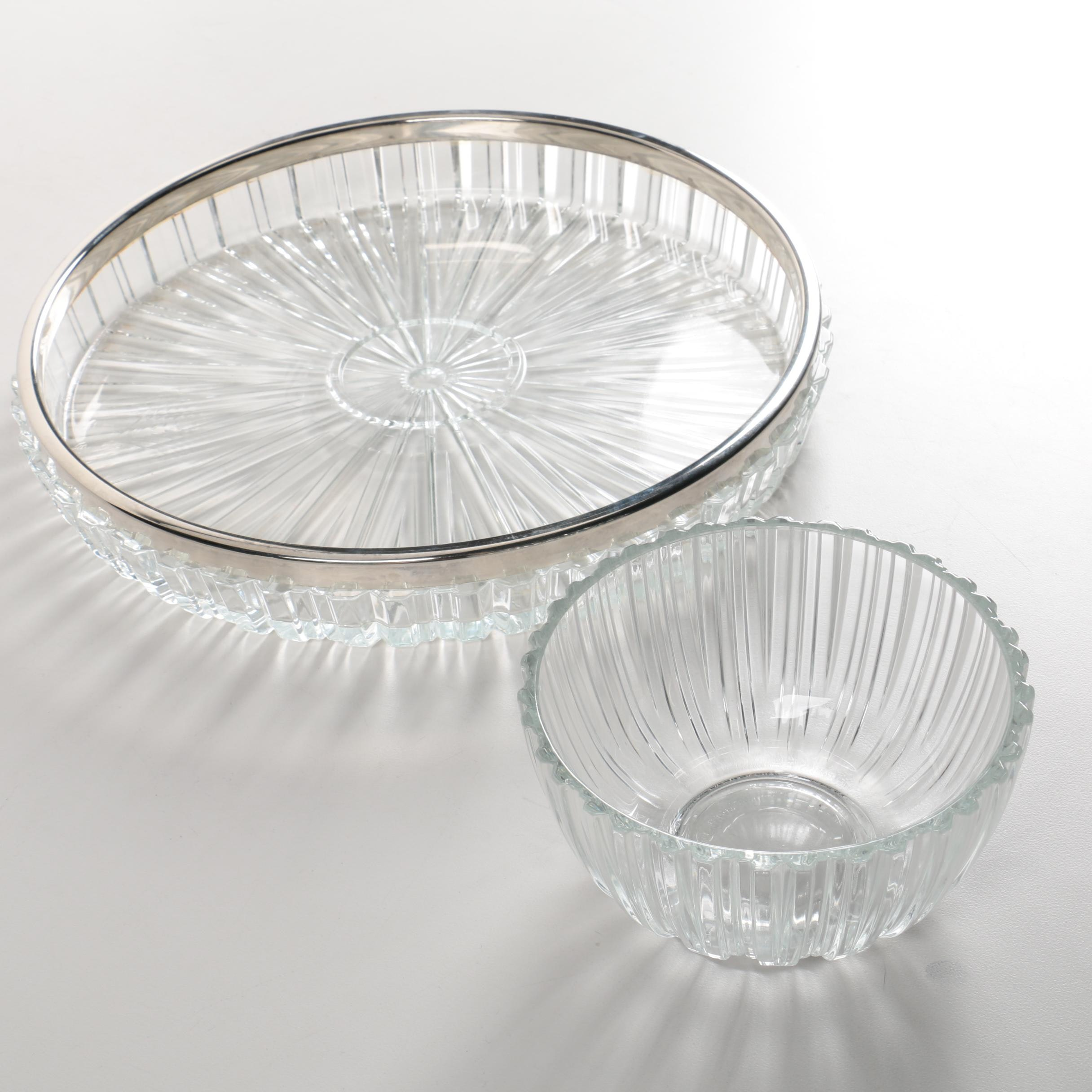 Ribbed Glass Serveware