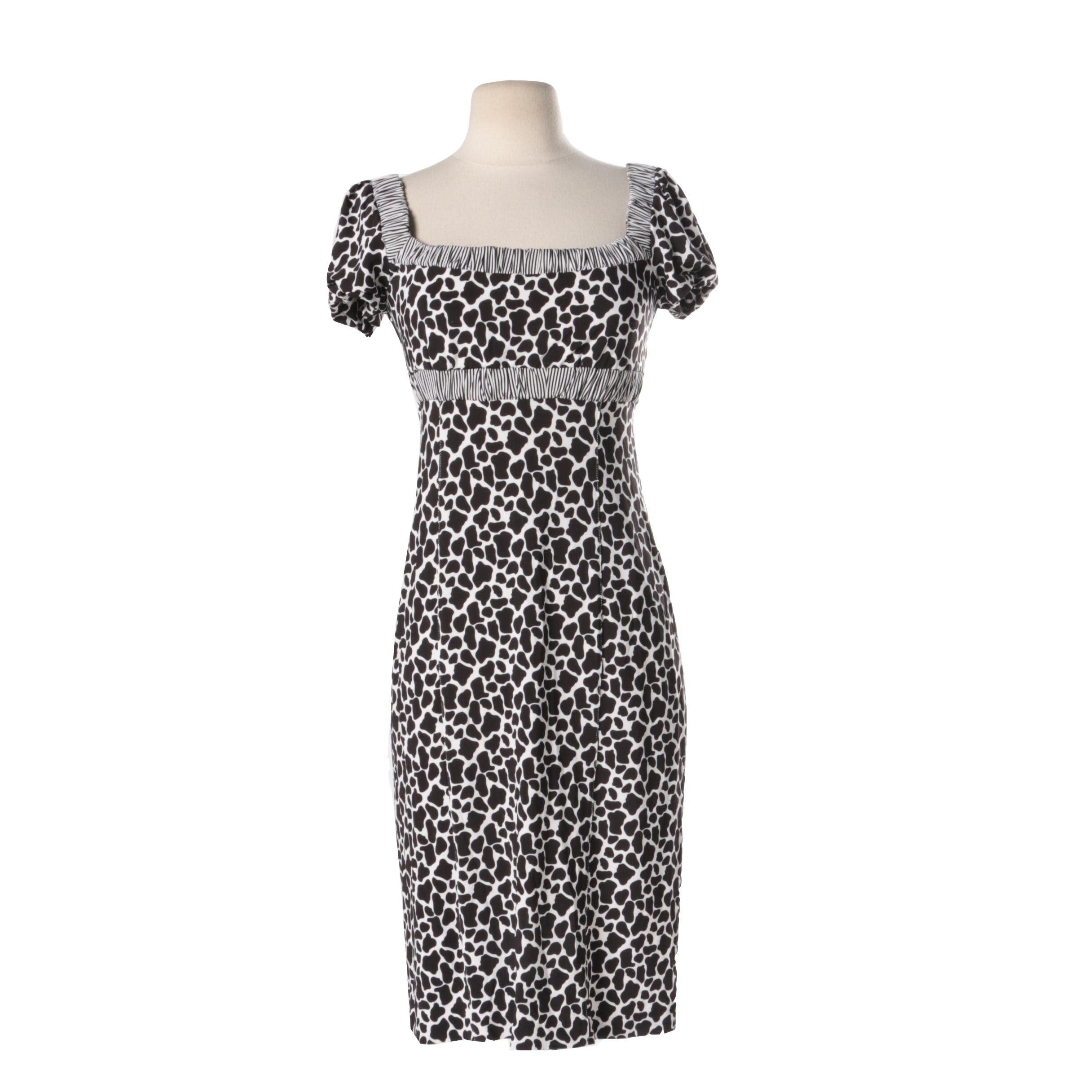 241 Animal Print Dress