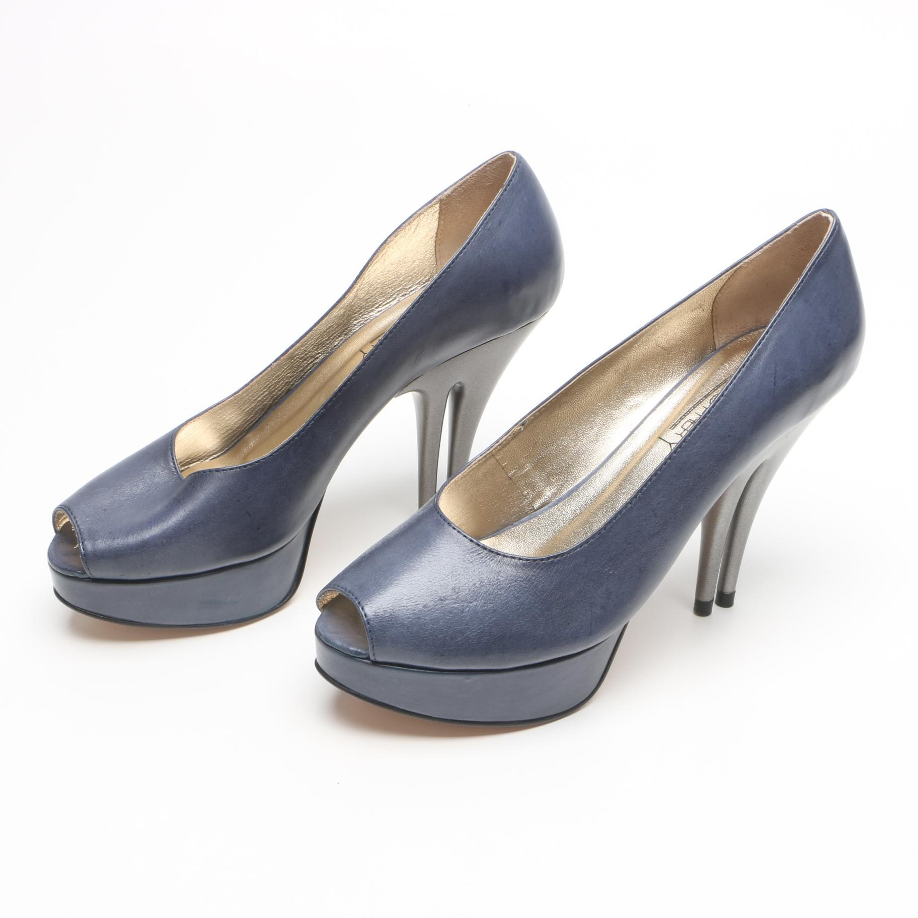 Christopher Coy Blueberry Dual Heeled Stilettos