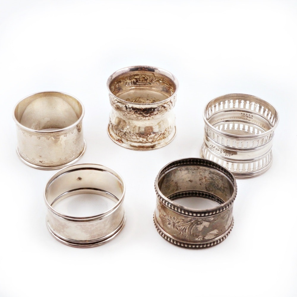 Webster Co. and Other Sterling Silver Napkin Rings
