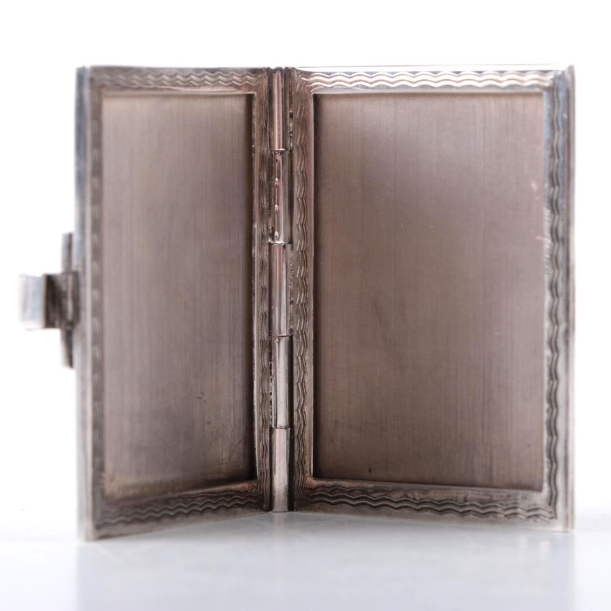 Sterling Silver Business Card Case : EBTH
