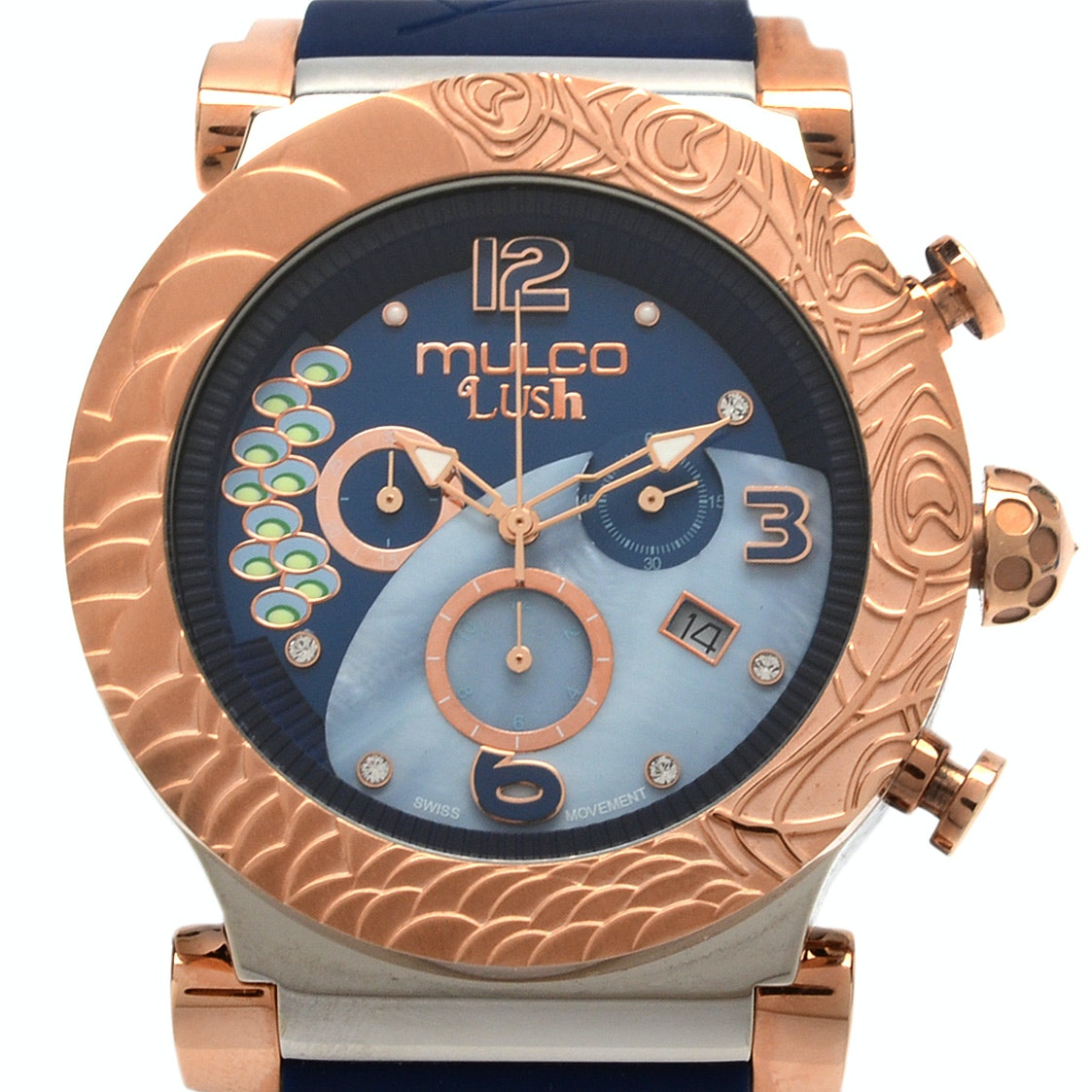 Mulco Lush Peacock Chronograph Analog Watch Wristwatch