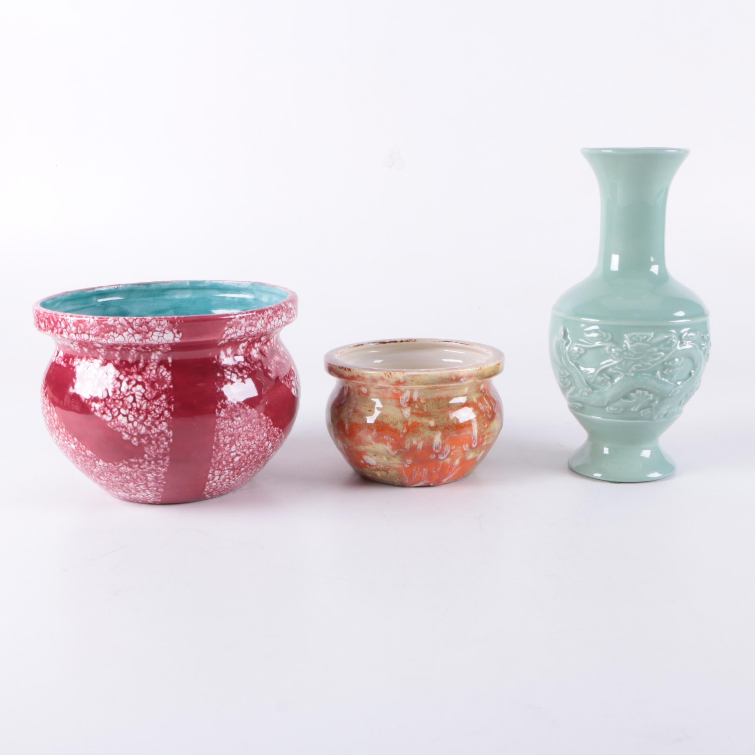 Ellen George Ceramic Bowls and Vase