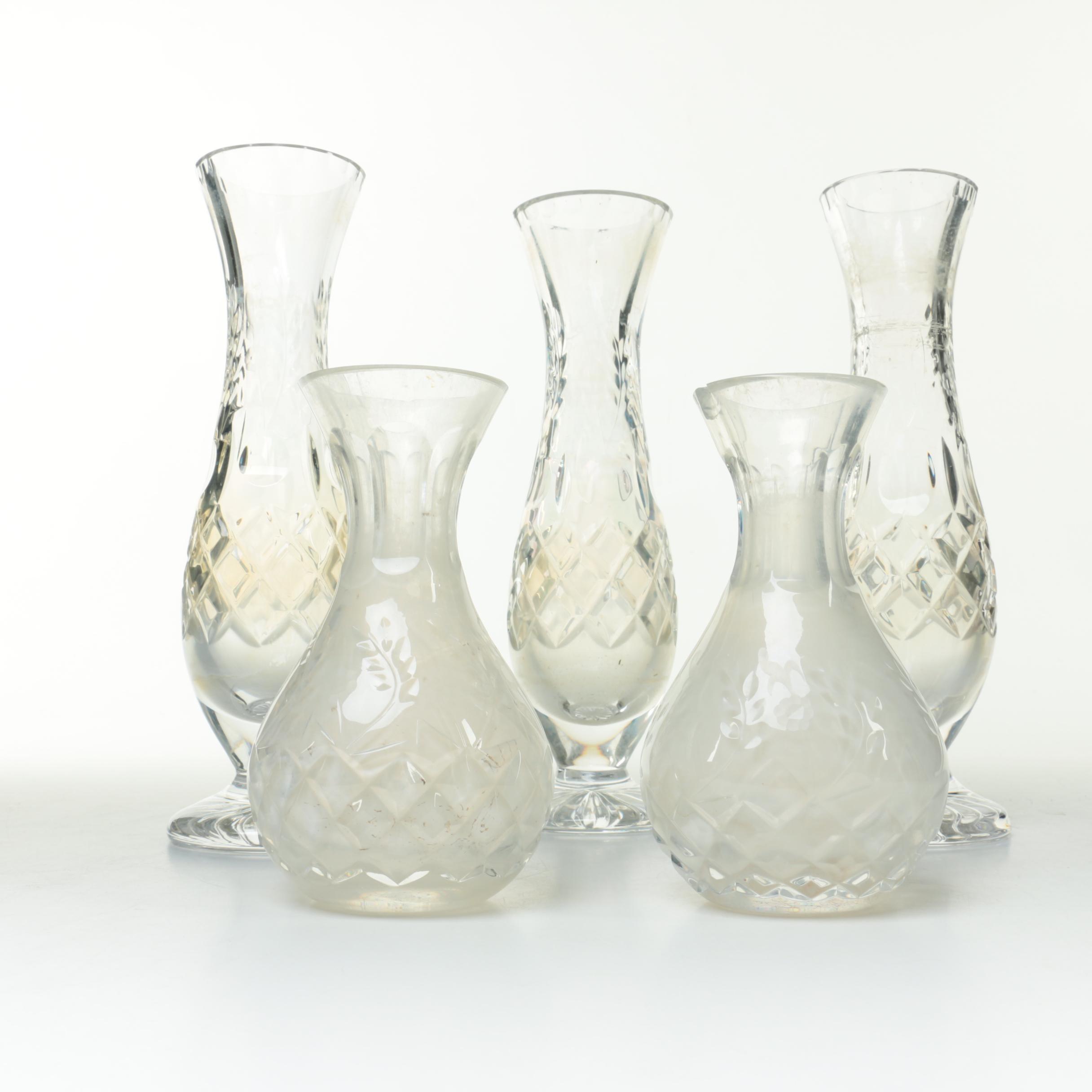 Assortment of Crystal Bud Vases