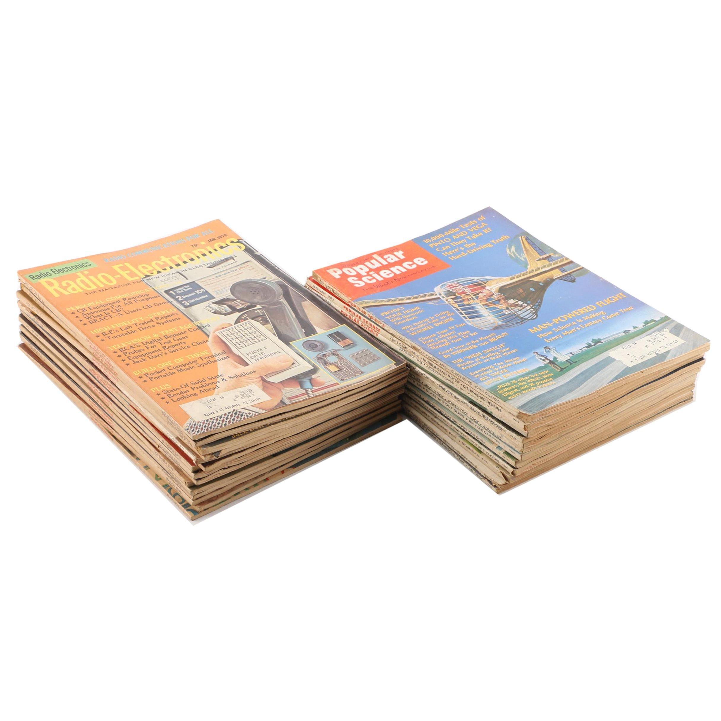"1970s ""Radio-Electronics"" and ""Popular Science"" Magazines"