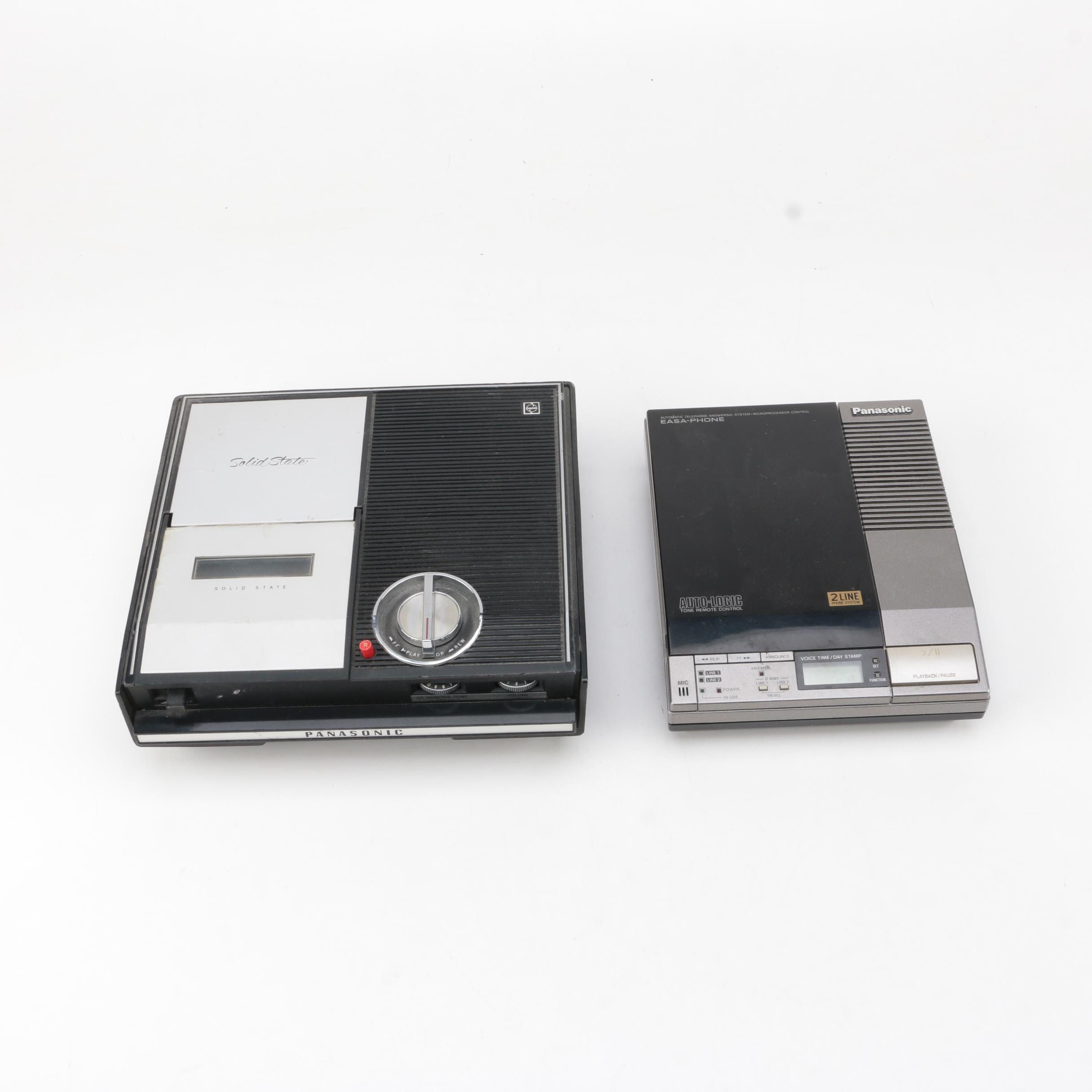 Vintage Panasonic and Auto-Logic Answering Machines