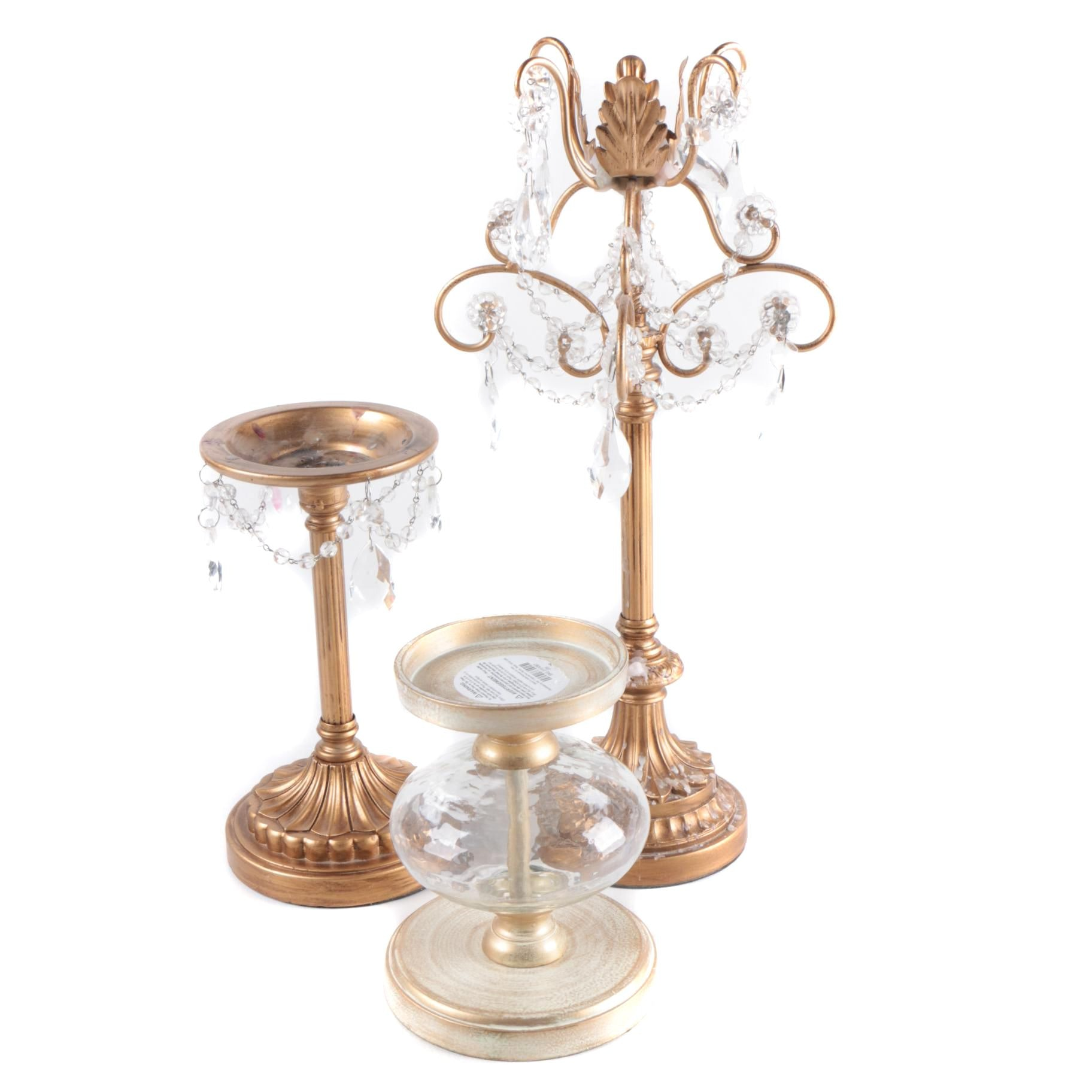 Metal and Glass Candle Holders