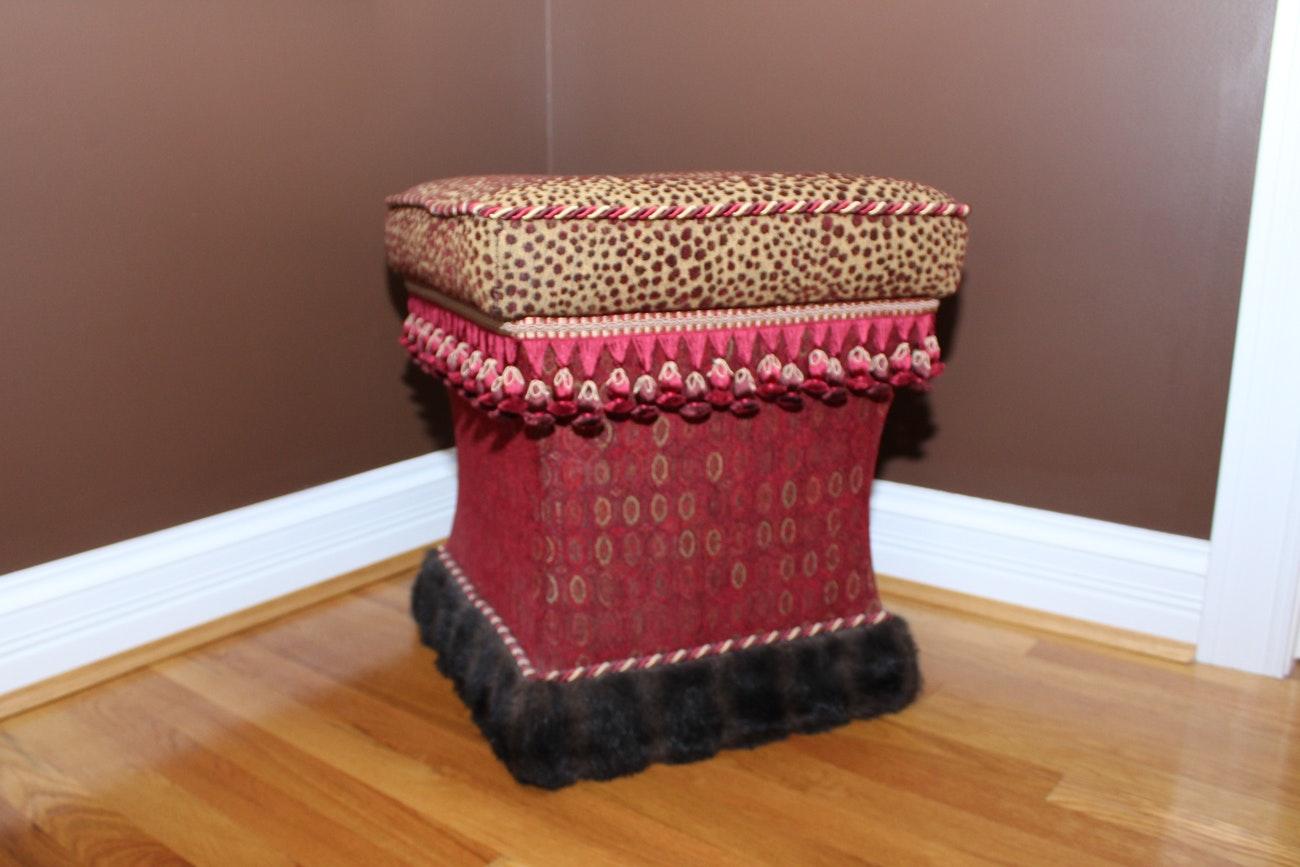 Upholstered Footsool