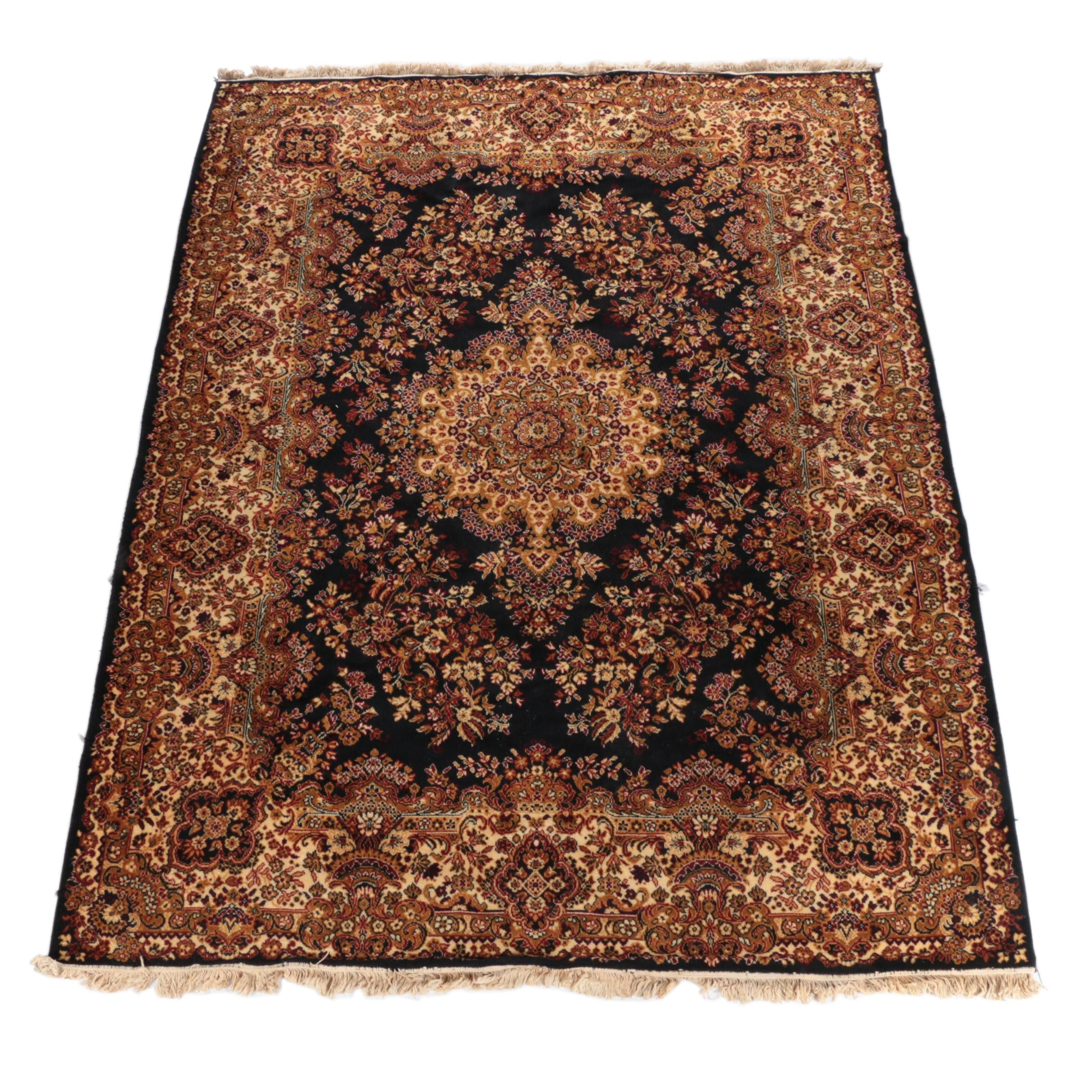 Power-Loomed Bhadra Persian-Style Wool Area Rug