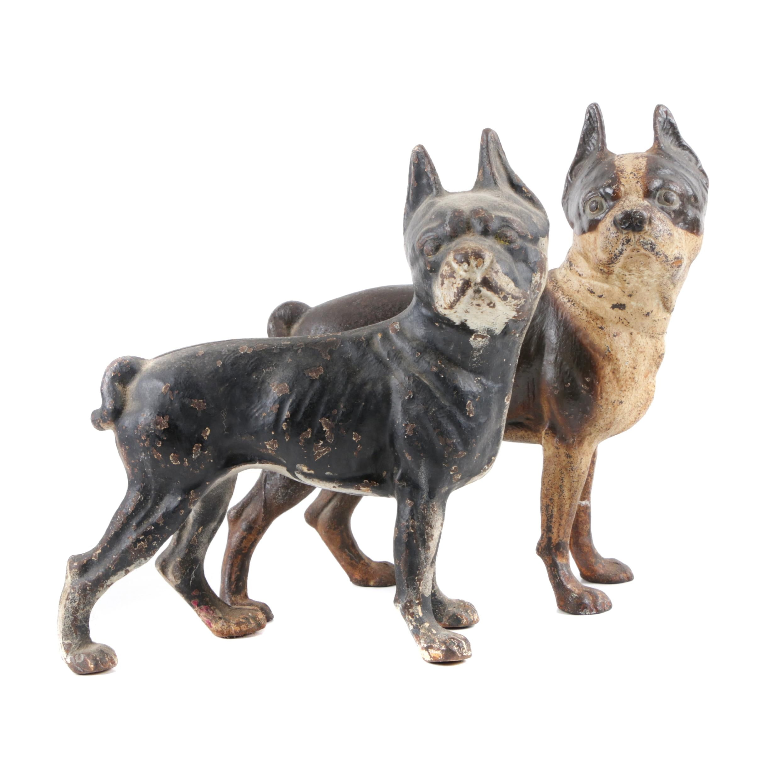 Hubley Cast Iron French Bulldog Door Stops