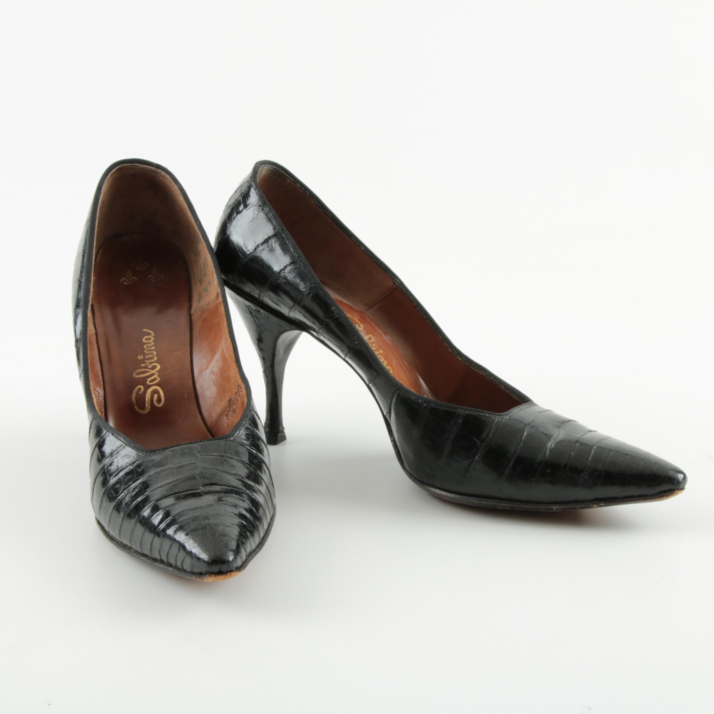 Vintage Sabrina Black High Heel Pumps
