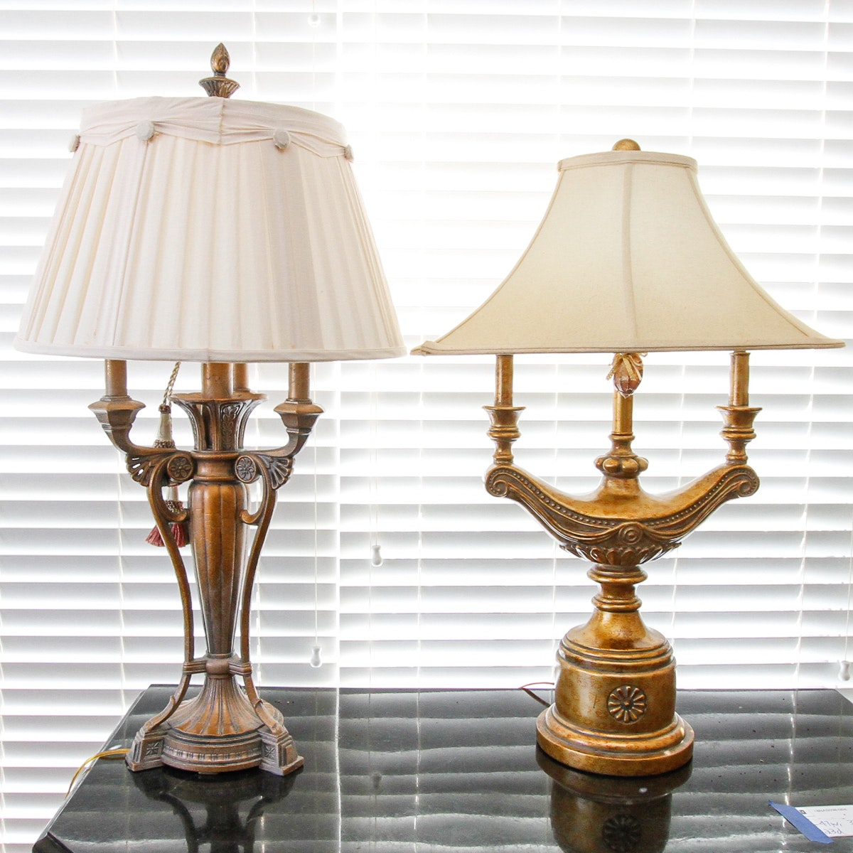 Neoclassical Style Urn Shaped Table Lamps