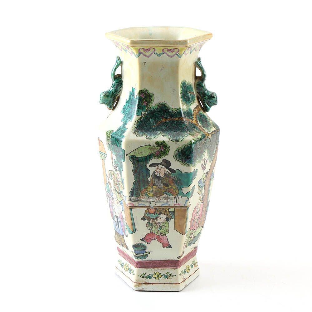 Chinese Ceramic Figural Scene Vase