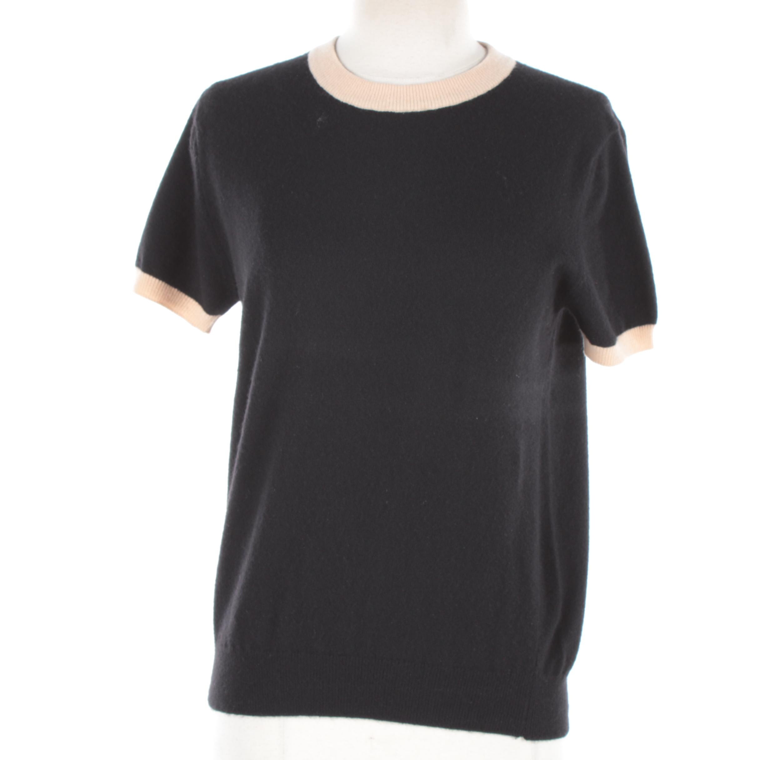Chanel Cashmere Blend Short Sleeve Top