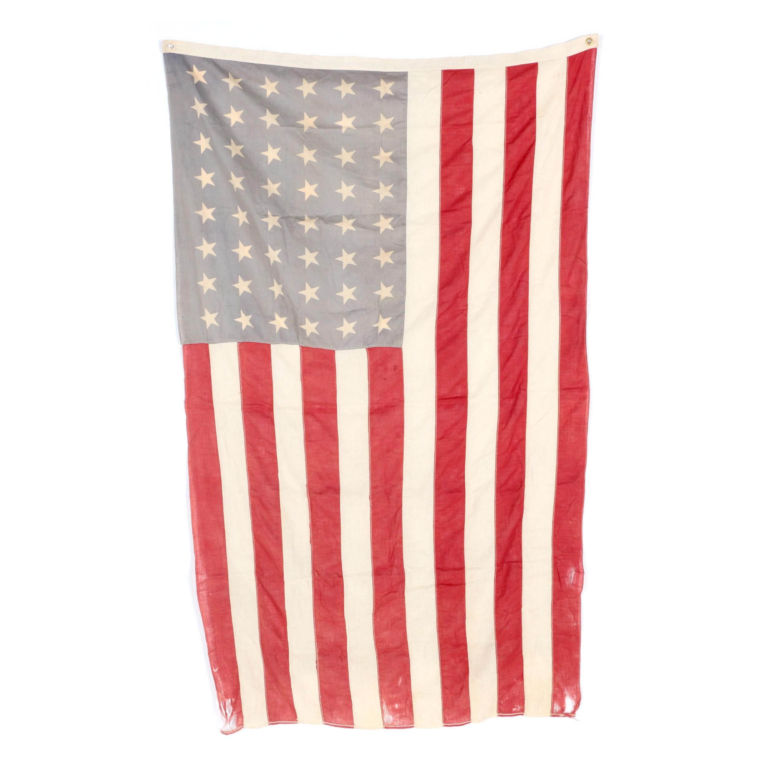 Vintage 48 Star American Flag