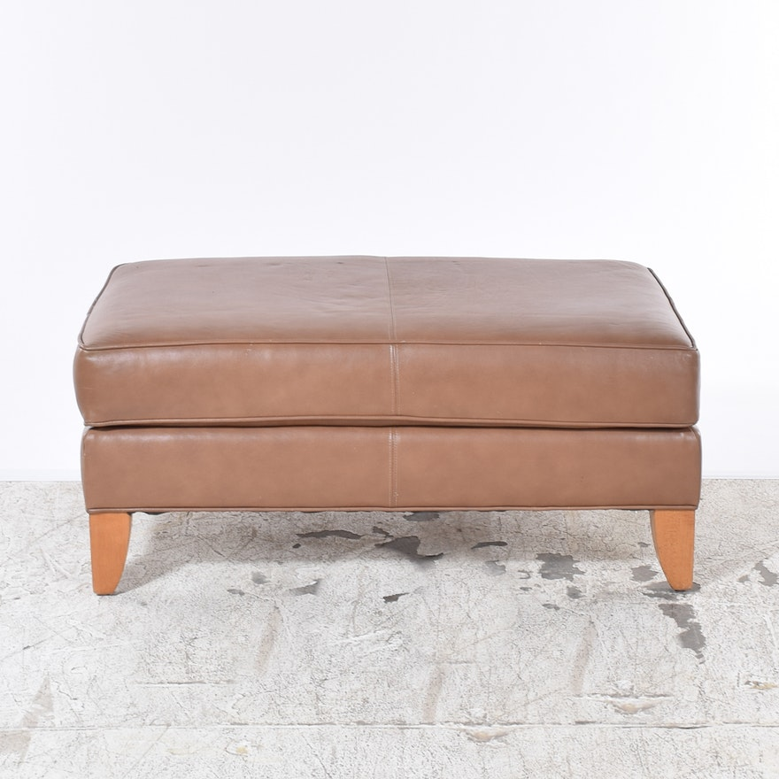 Pleasing Ethan Allen Leather Ottoman Evergreenethics Interior Chair Design Evergreenethicsorg