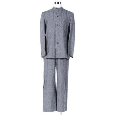 12b516db2de Men's Indian Grey Linen Jodhpuri Pantsuit