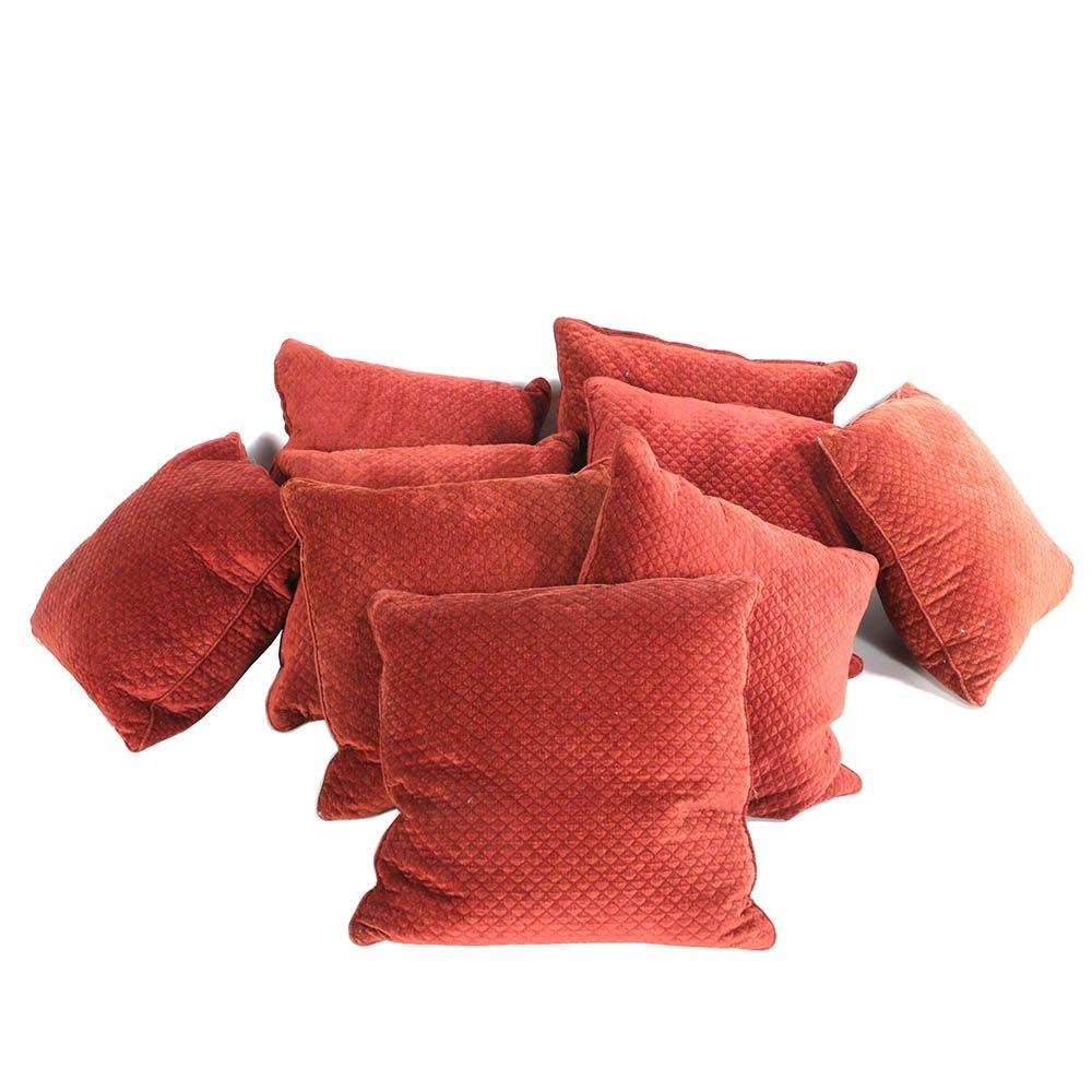 Red Diamond Print Throw Pillows