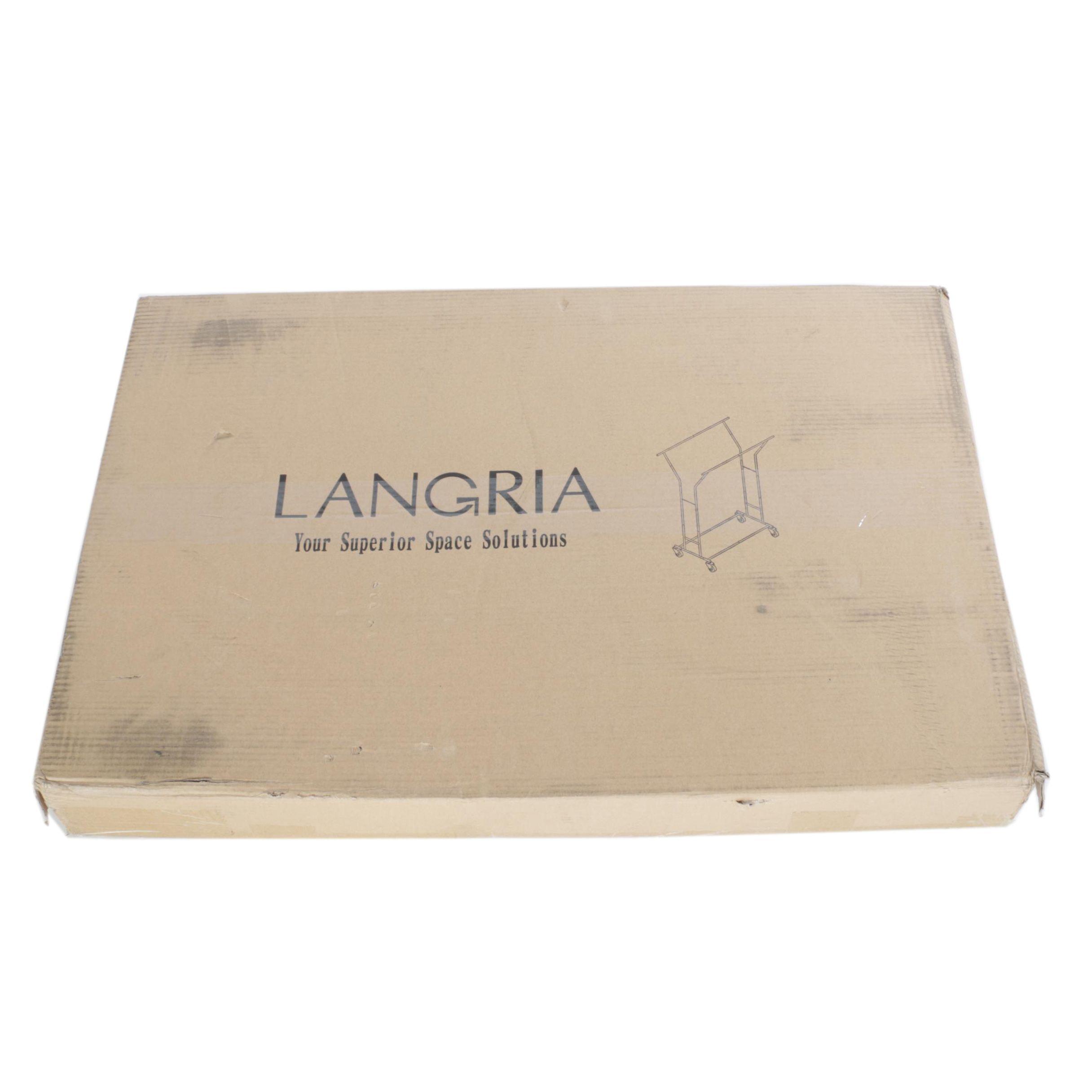 Adjustable Double Rail Rolling Garment Rack by Langria