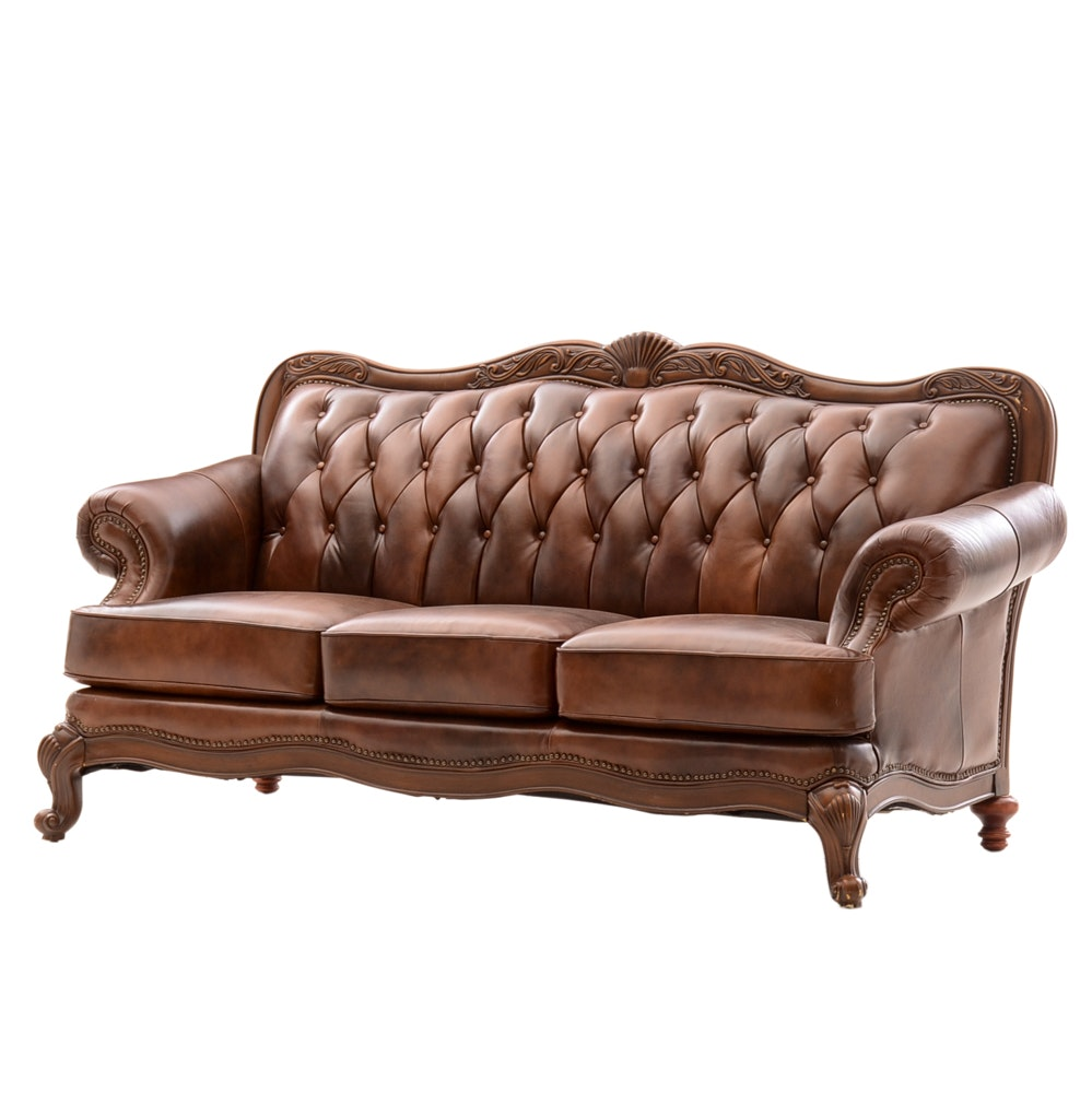 "Coaster ""Victoria"" Leather Sofa"