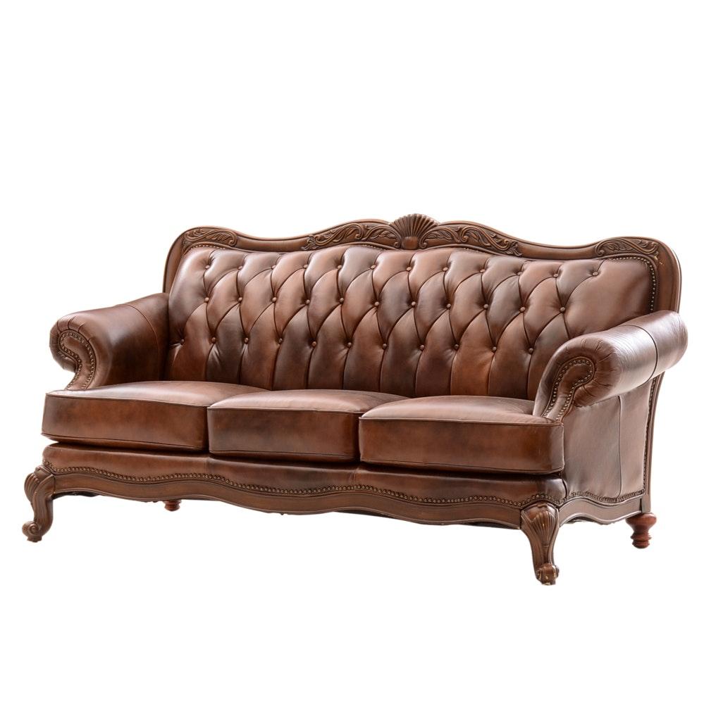"""Coaster """"Victoria"""" Leather Sofa"""