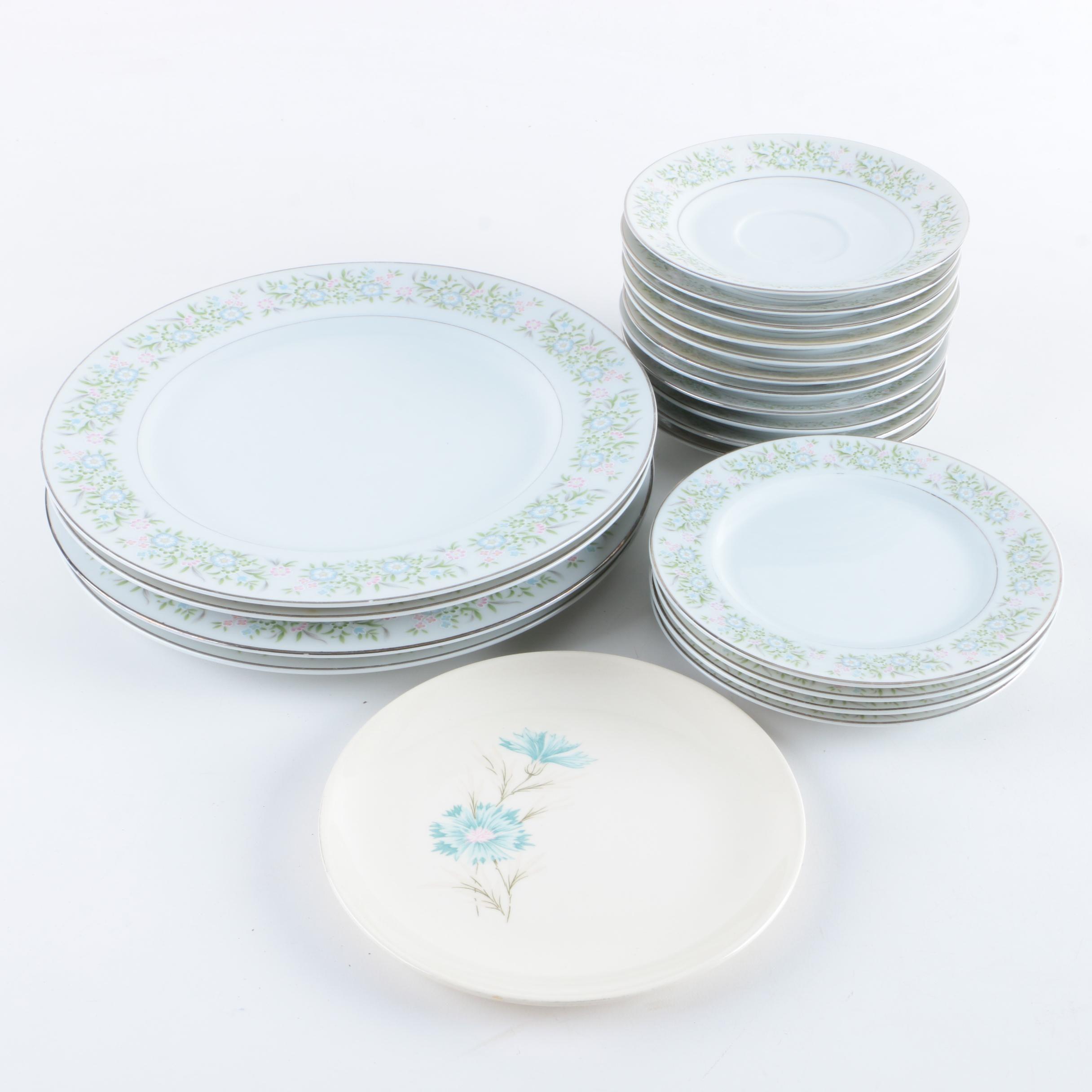 "Taihei ""Springtime"" Porcelain Plates"