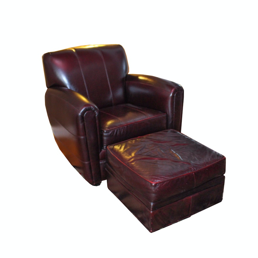 Outstanding Fairfield Leather Armchair And Ottoman Andrewgaddart Wooden Chair Designs For Living Room Andrewgaddartcom